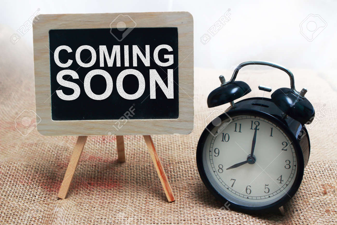 Coming Soon Motivational Inspirational Business Marketing Words Stock Photo Picture And Royalty Free Image Image 121554863
