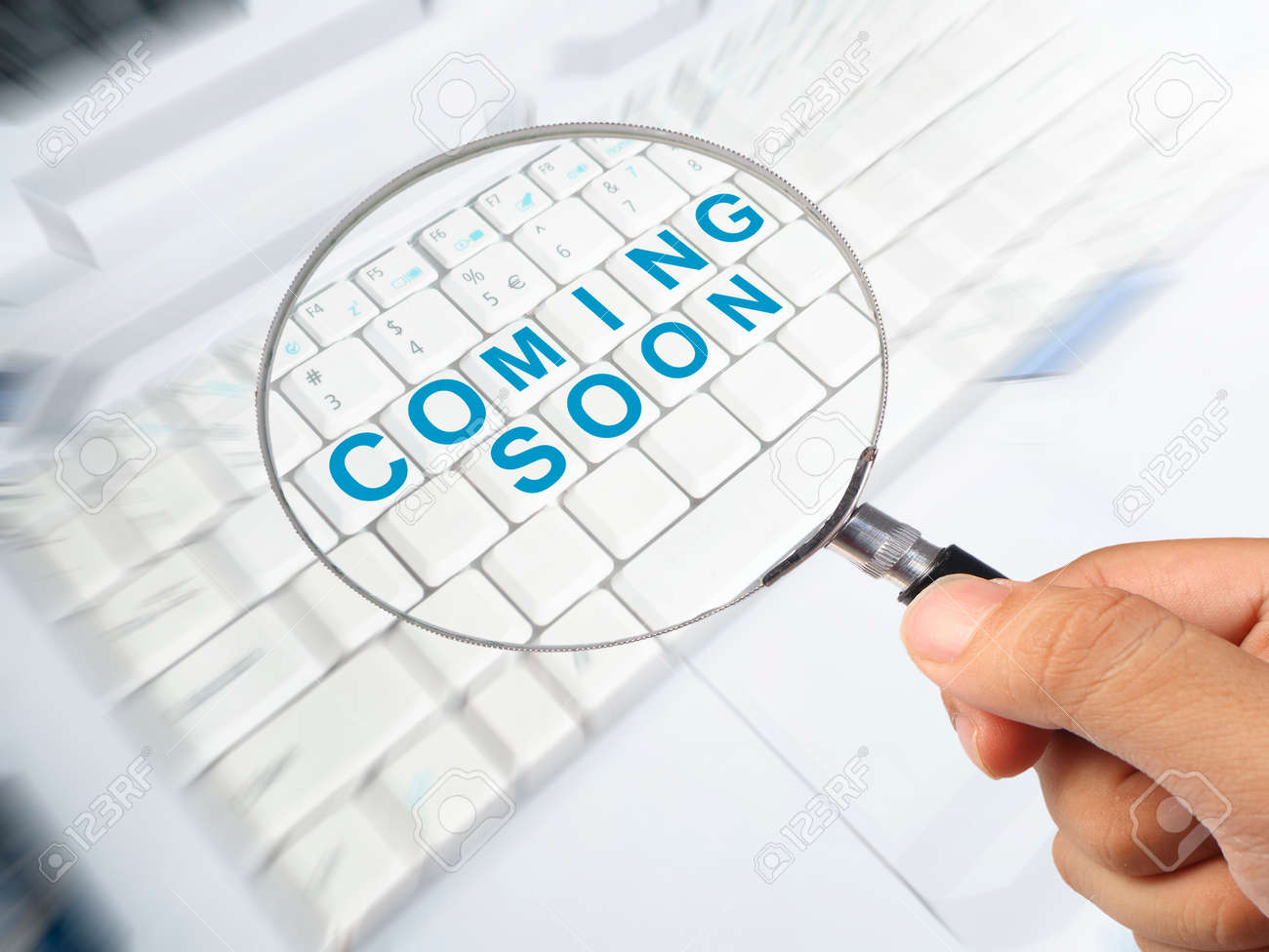 Coming Soon Motivational Inspirational Business Marketing Words Stock Photo Picture And Royalty Free Image Image 121948521