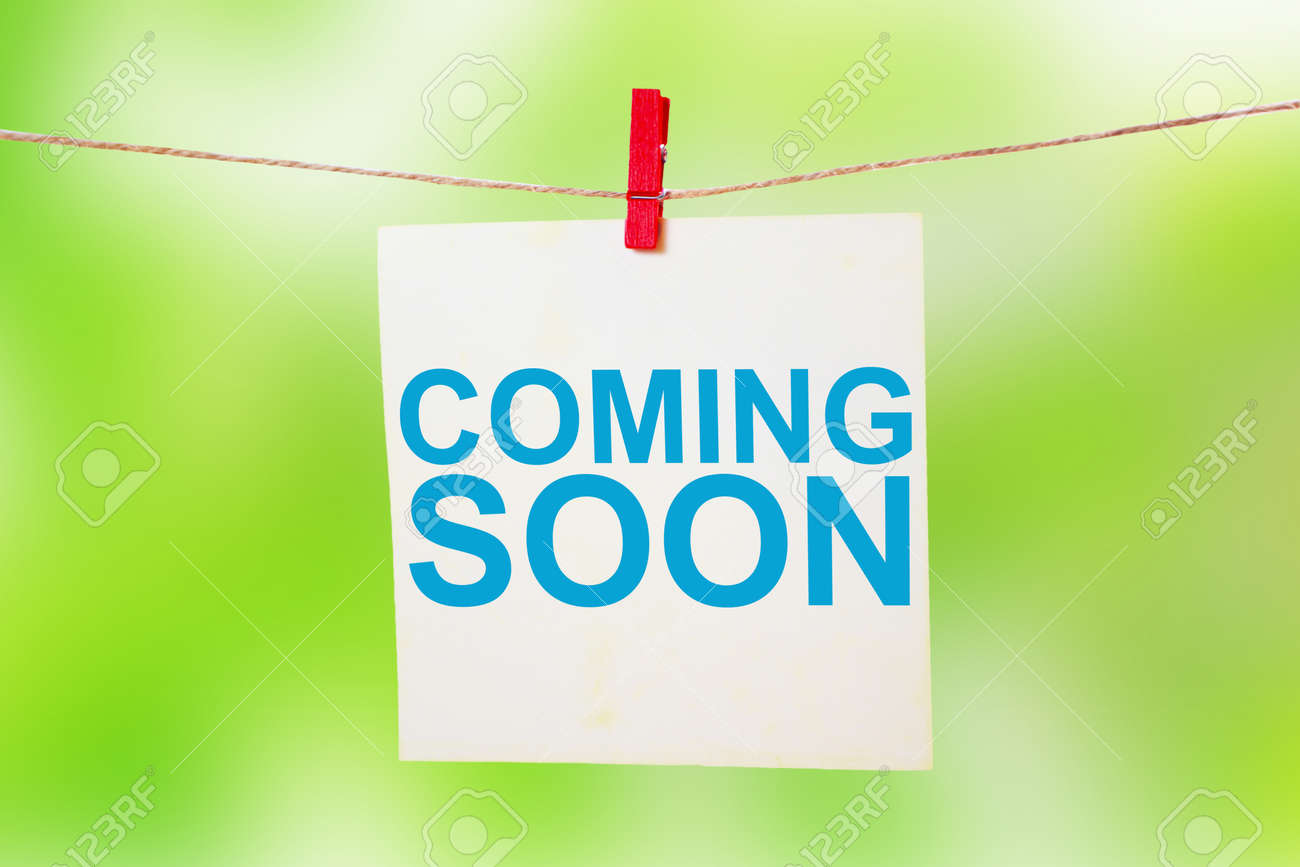 Coming Soon Motivational Inspirational Business Marketing Words Stock Photo Picture And Royalty Free Image Image 122195209