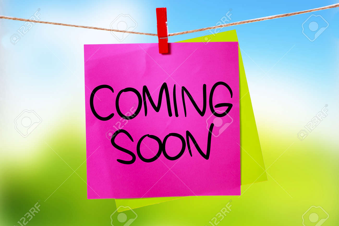 Coming Soon Motivational Inspirational Business Marketing Words Stock Photo Picture And Royalty Free Image Image 126483075