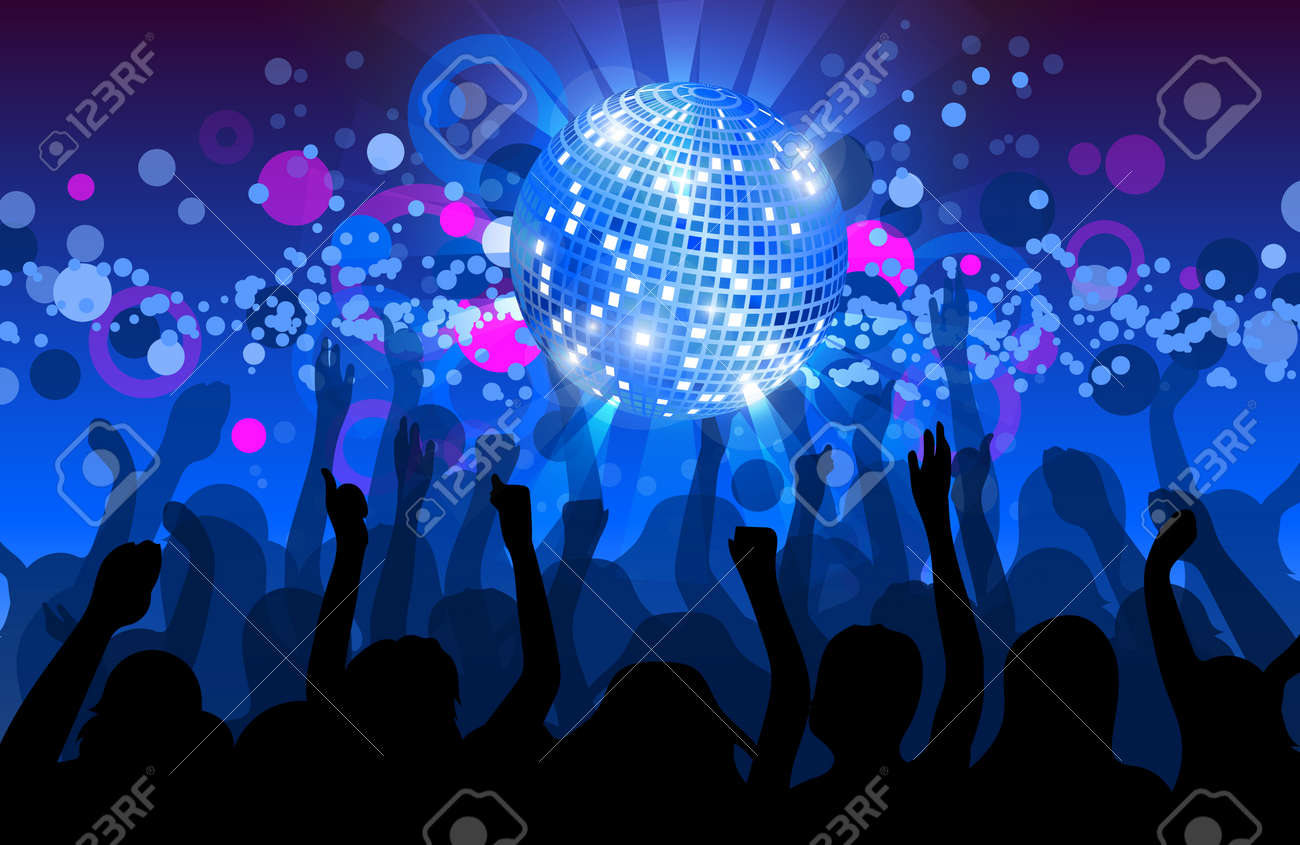 dance party flyer musical background vector eps 10 royalty free