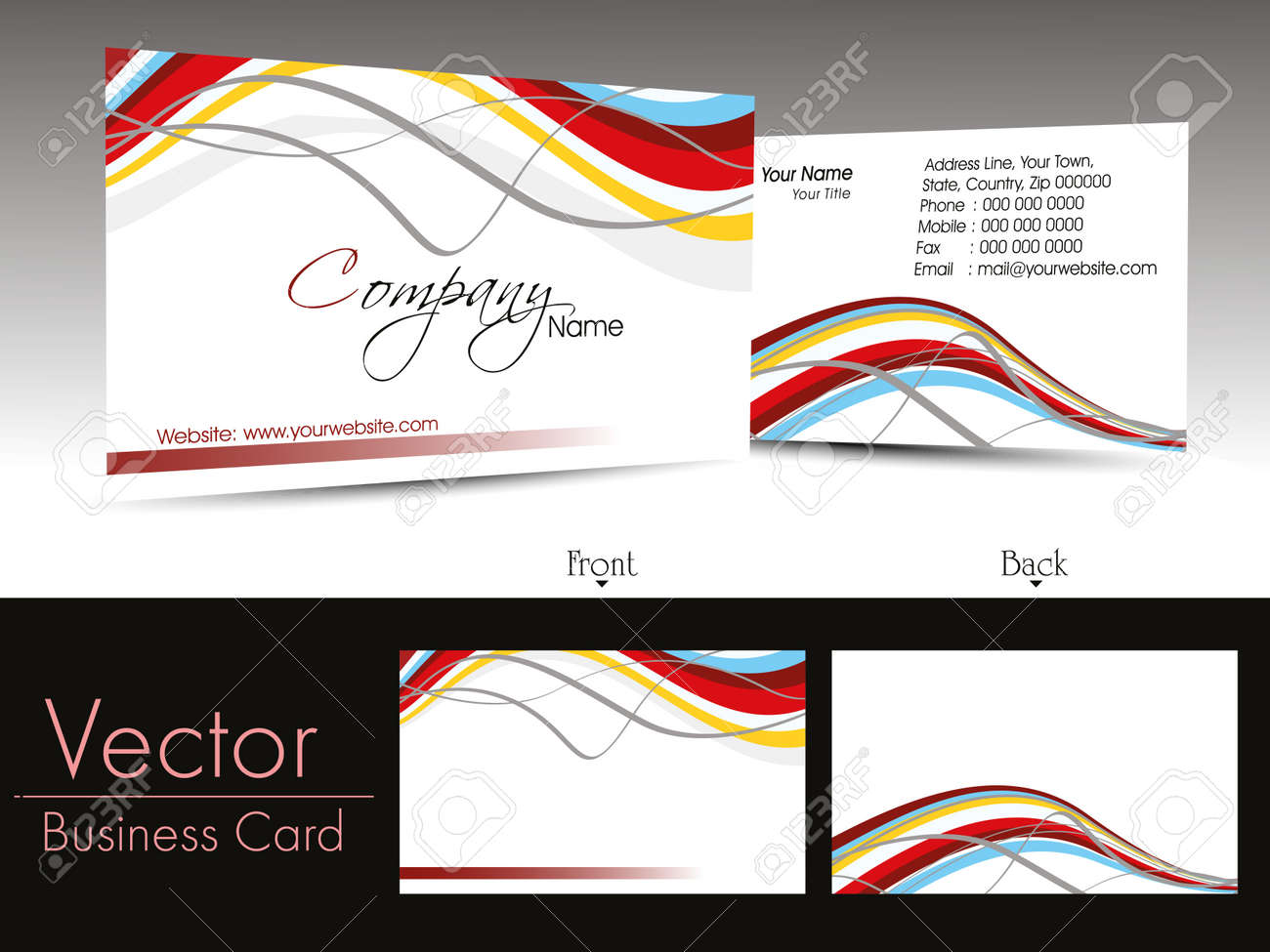 Vector creative element design corporate business cards royalty vector creative element design corporate business cards stock vector 11895169 magicingreecefo Choice Image
