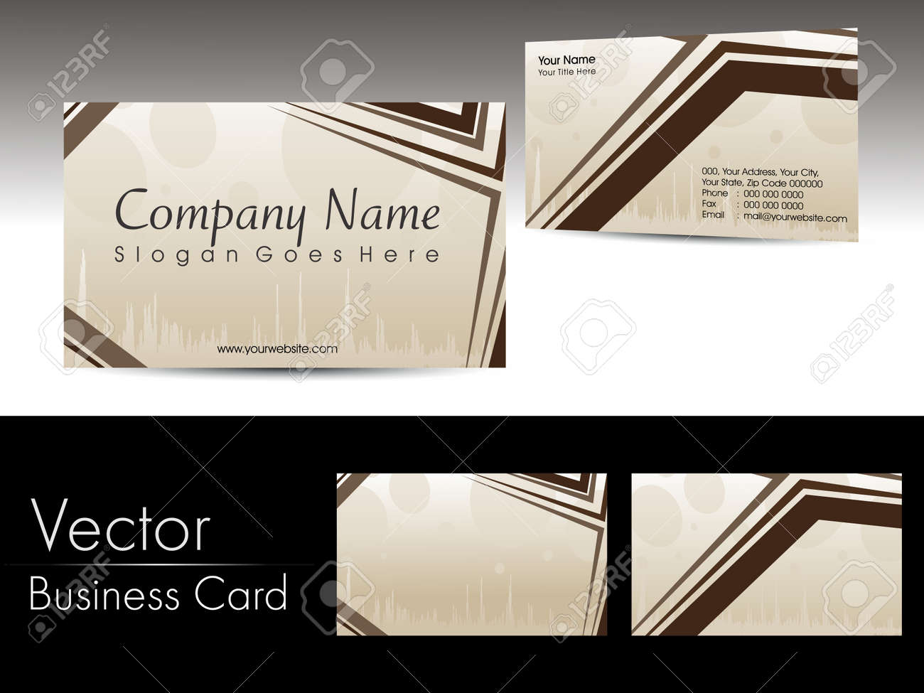 Abstract Artwork Design Vector Corporate Business Cards Royalty Free ...