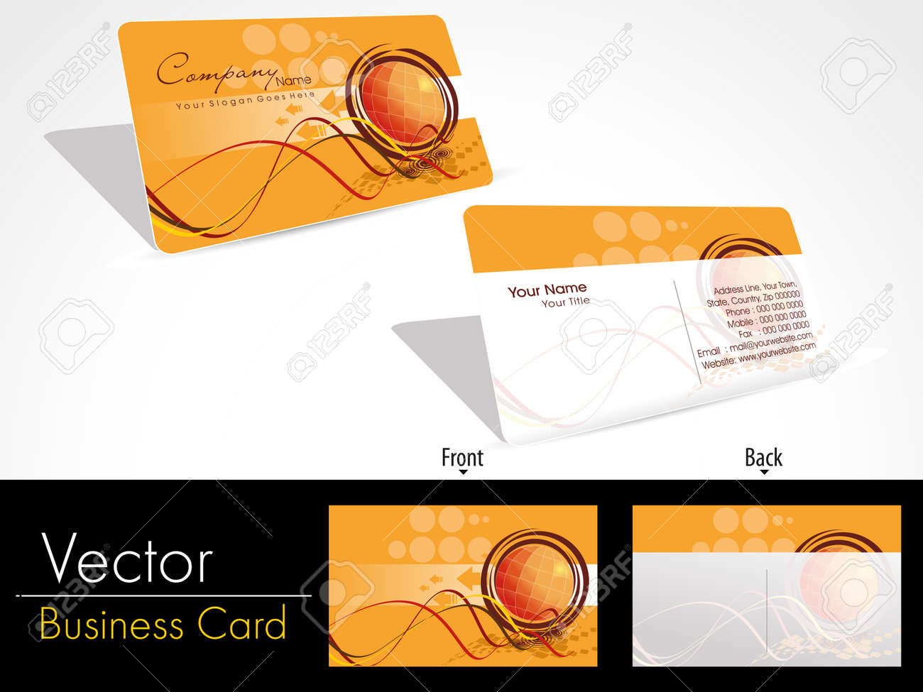 artistic design vector corporate business card set with presentation Stock Vector - 11895161