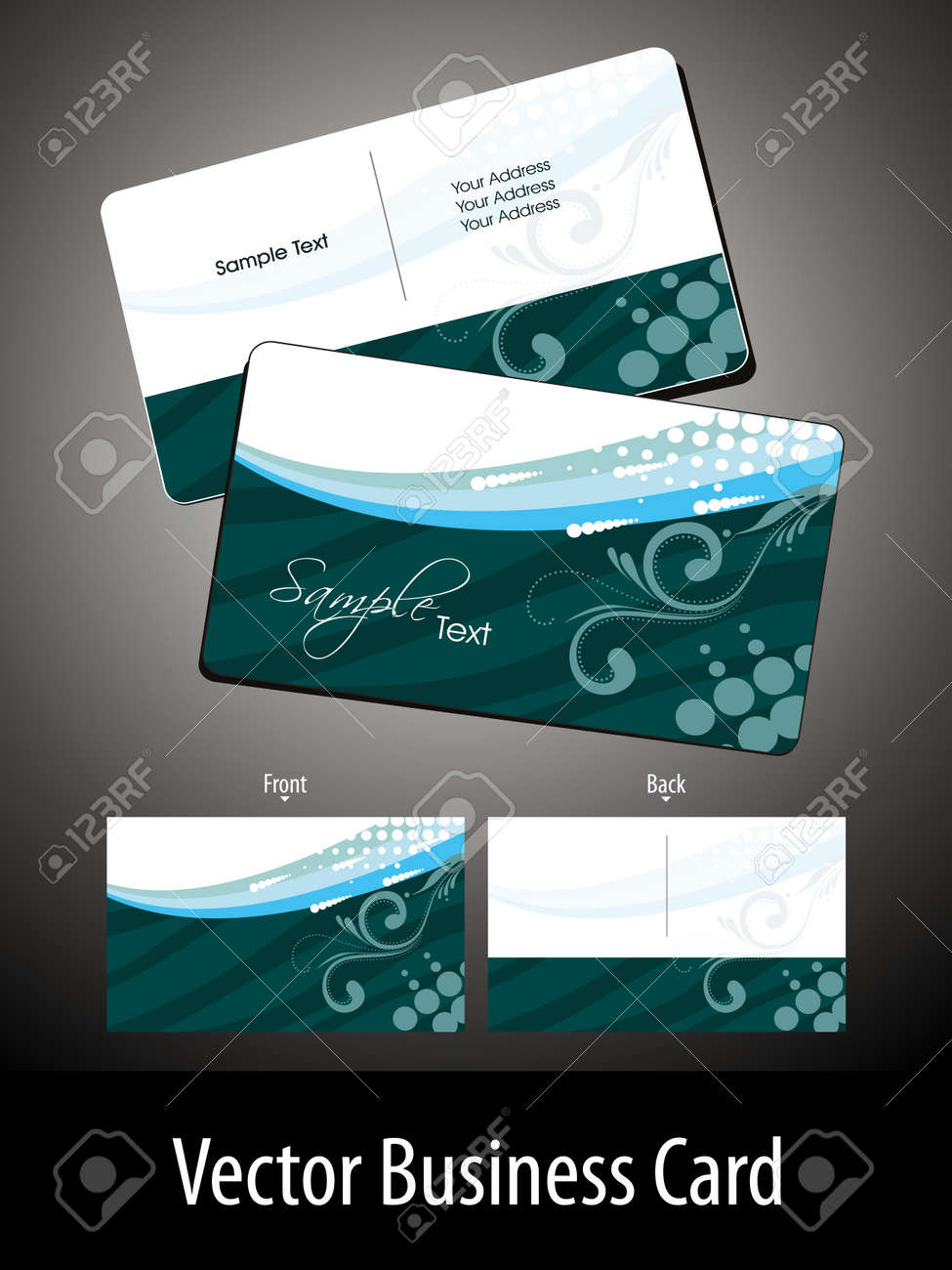 abstract green creative floral theme background vector gift card Stock Vector - 11895137