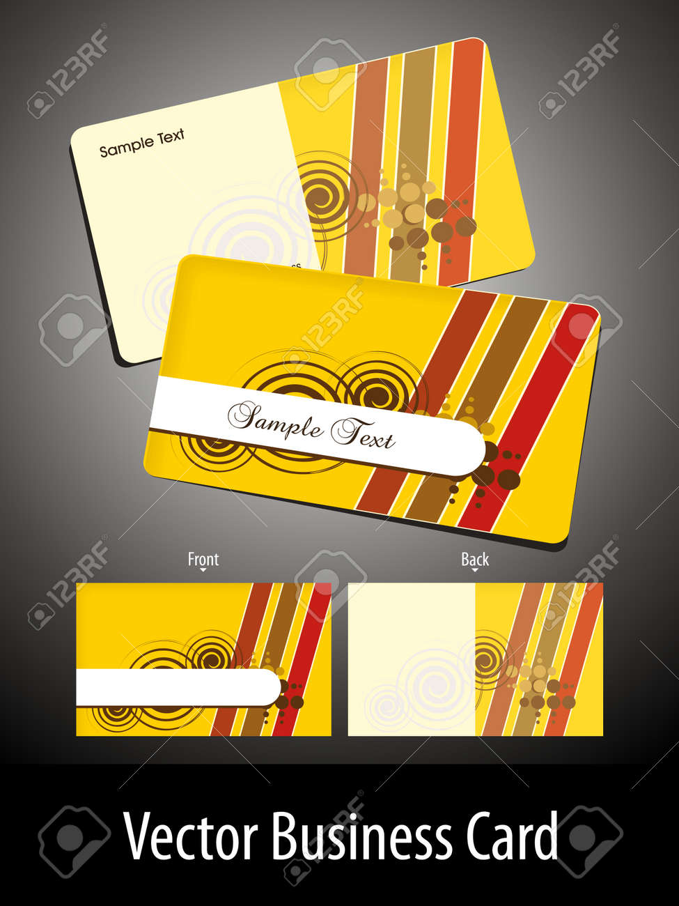 Yellow abstract artwork design set of business card royalty free vector yellow abstract artwork design set of business card reheart Image collections