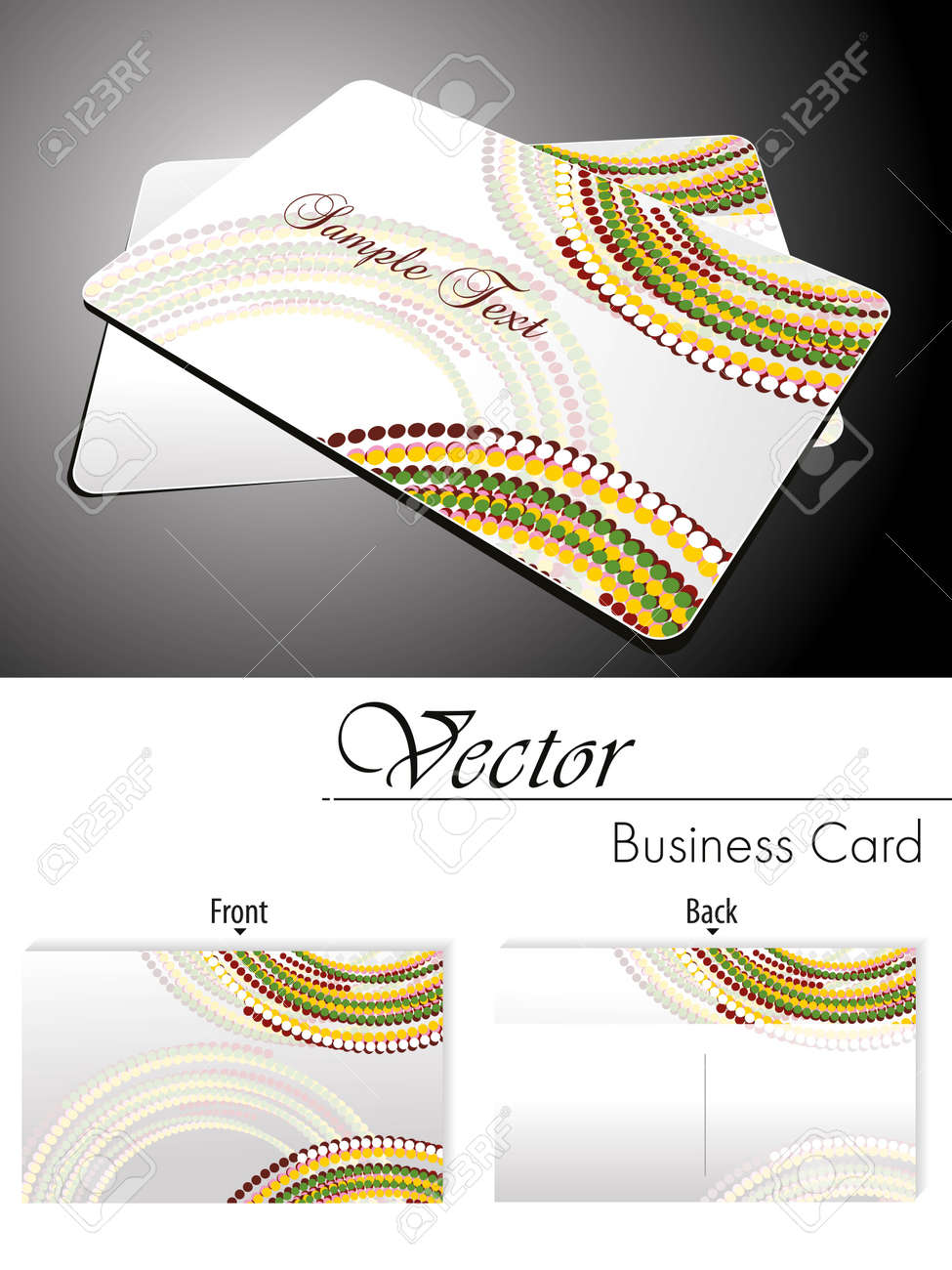 Colorfull dots half circle background gift card and business colorfull dots half circle background gift card and business card stock vector 11895171 colourmoves