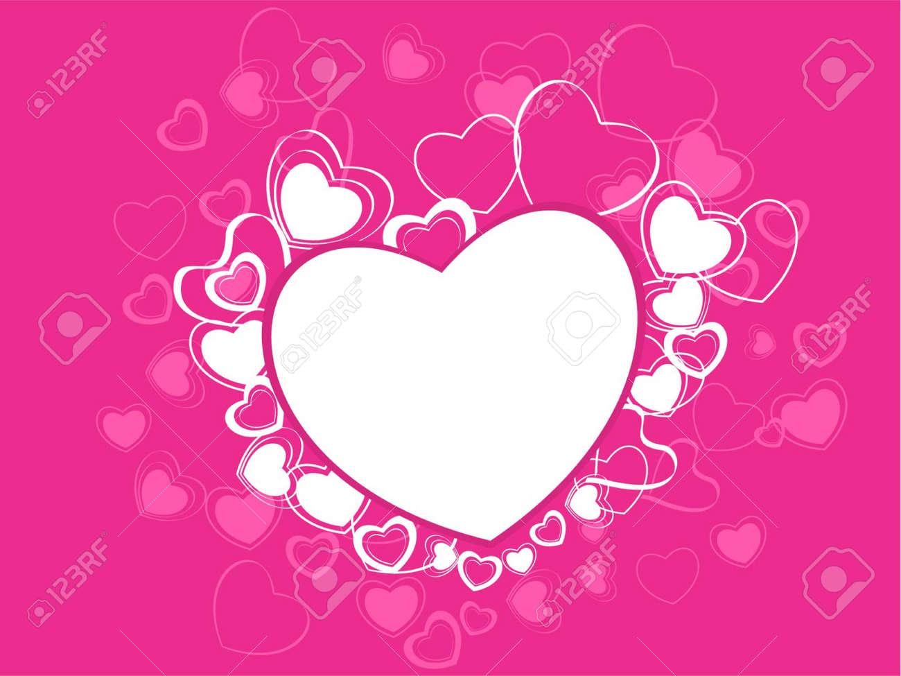 Image Avec Des Coeur une carte de fête une belle valentin `s avec des coeurs dans le fond
