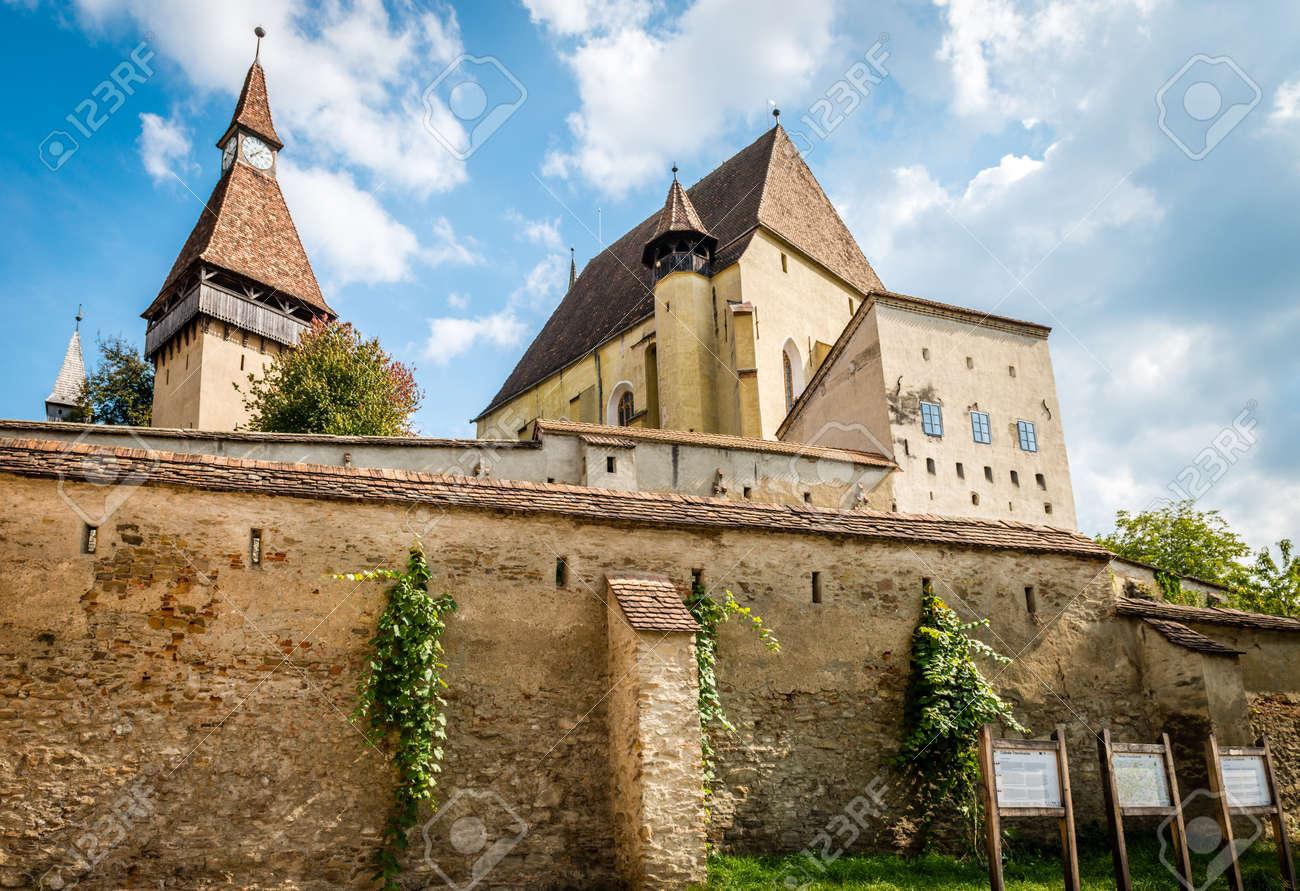 Biertan, Romania - September 18, 2016: Saxon village with fortified church in Transylvania. Biertan castle in Romania - 67537477