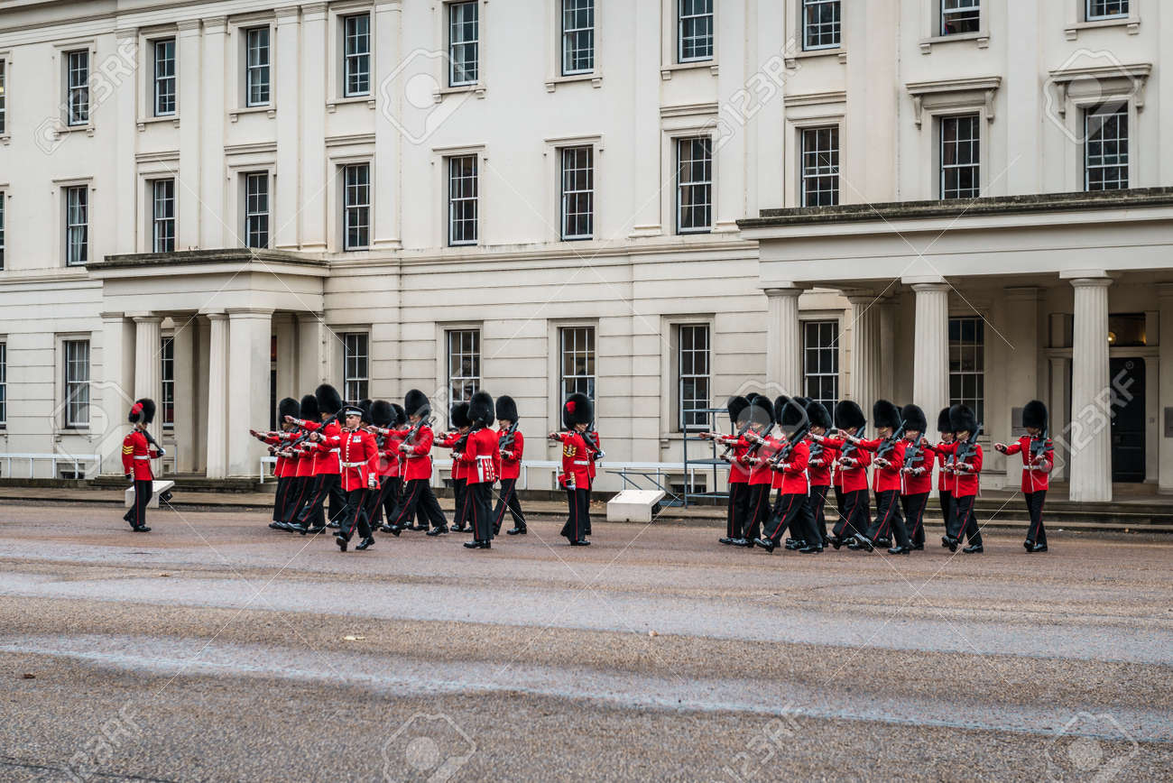 London, United Kingdom - October 18, 2016: Preparation for Changing