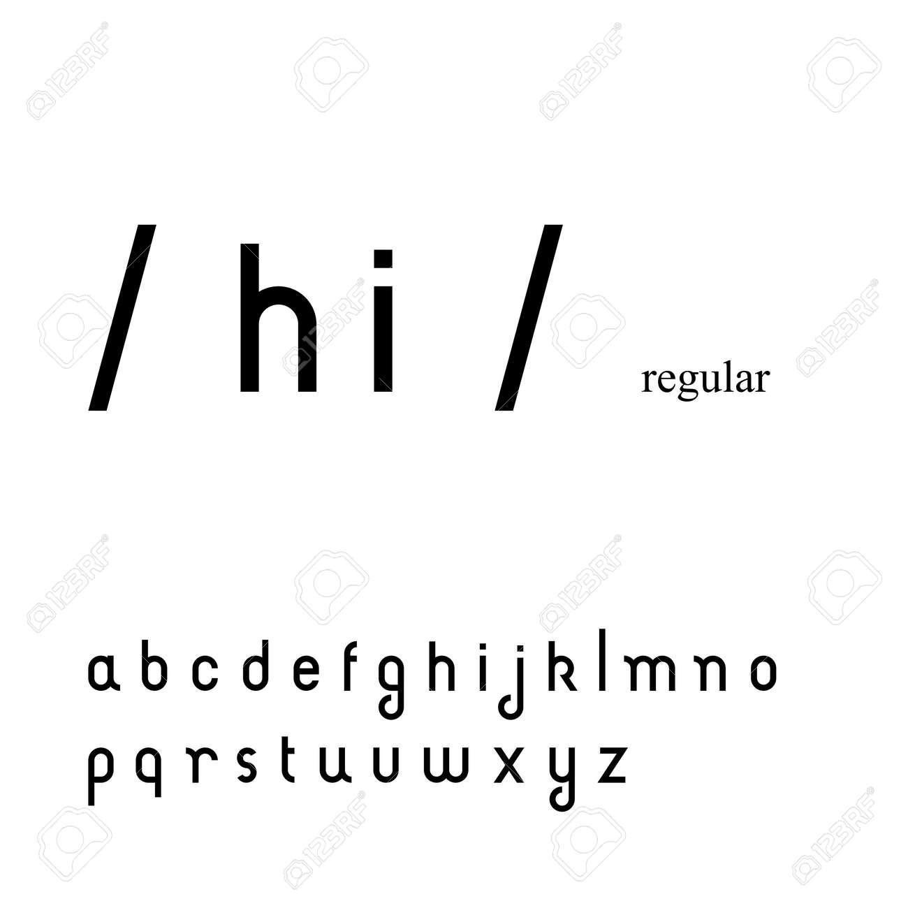 小文字でかわいいシンプルなサンセリフ フォント ロイヤリティフリー