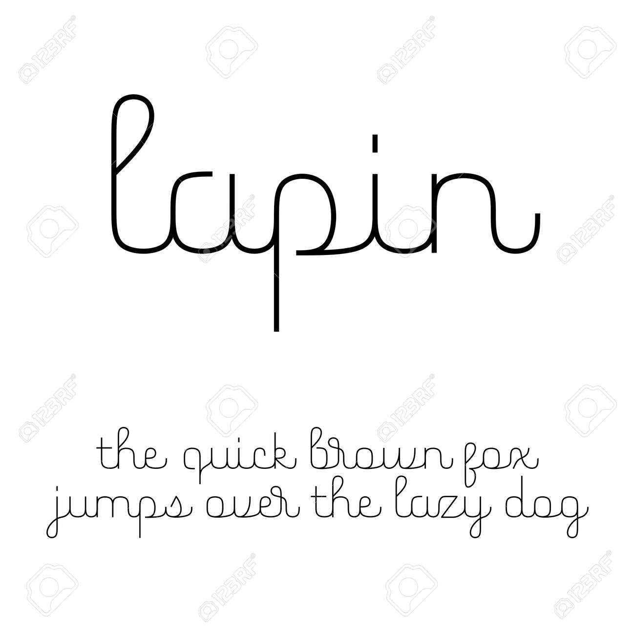 ラテン文字の小文字で、かわいいスクリプト フォント ロイヤリティ