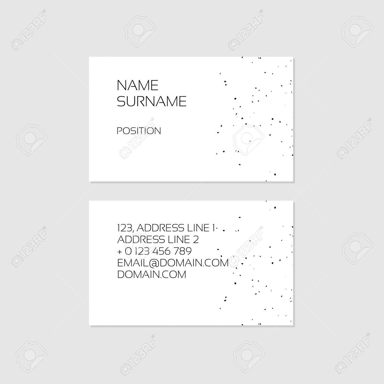 Fantastisch Grundlegende Visitenkarteschablone Fotos - Beispiel ...