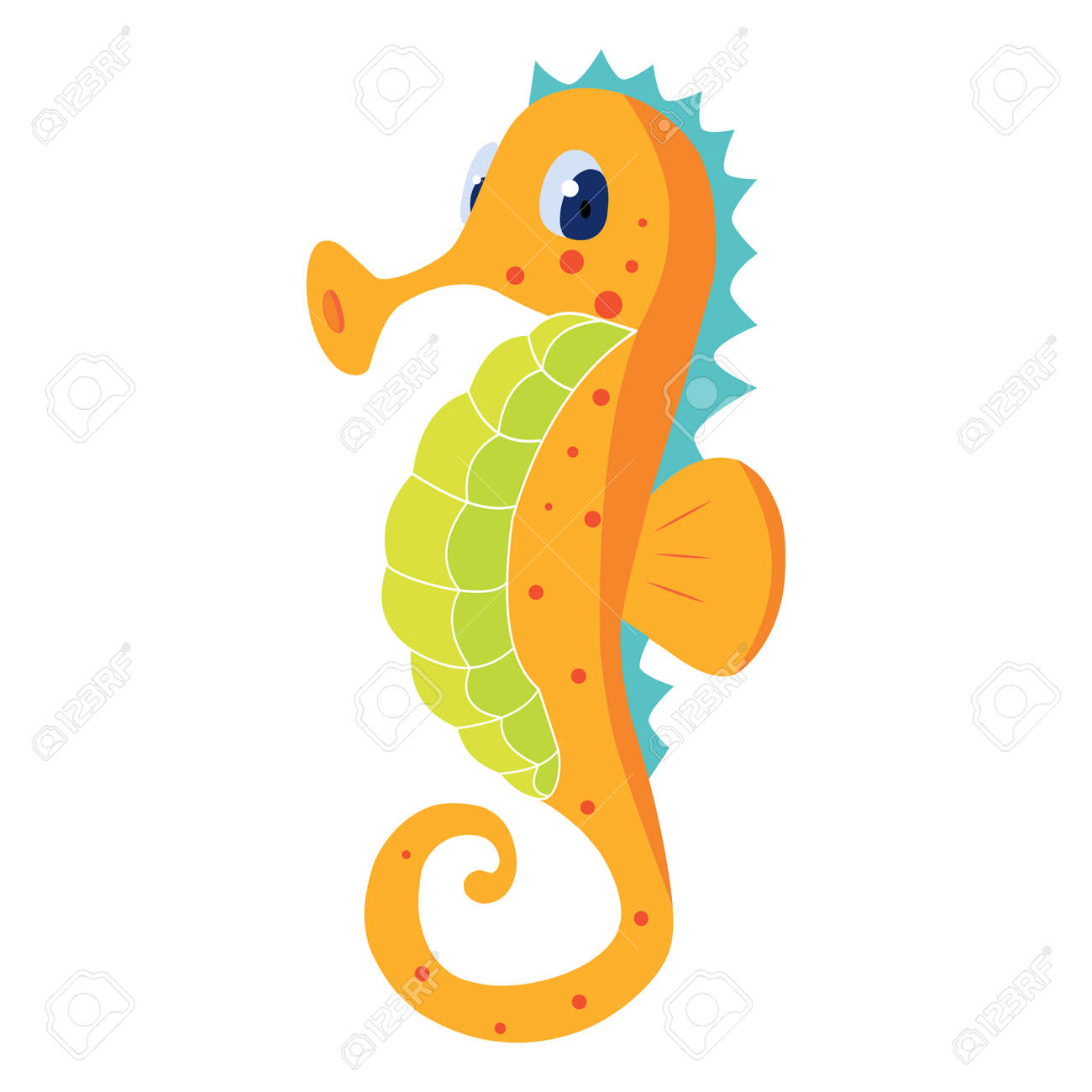 Seahorse Vector Image Royalty Free Cliparts Vectors And Stock Illustration Image 100872762