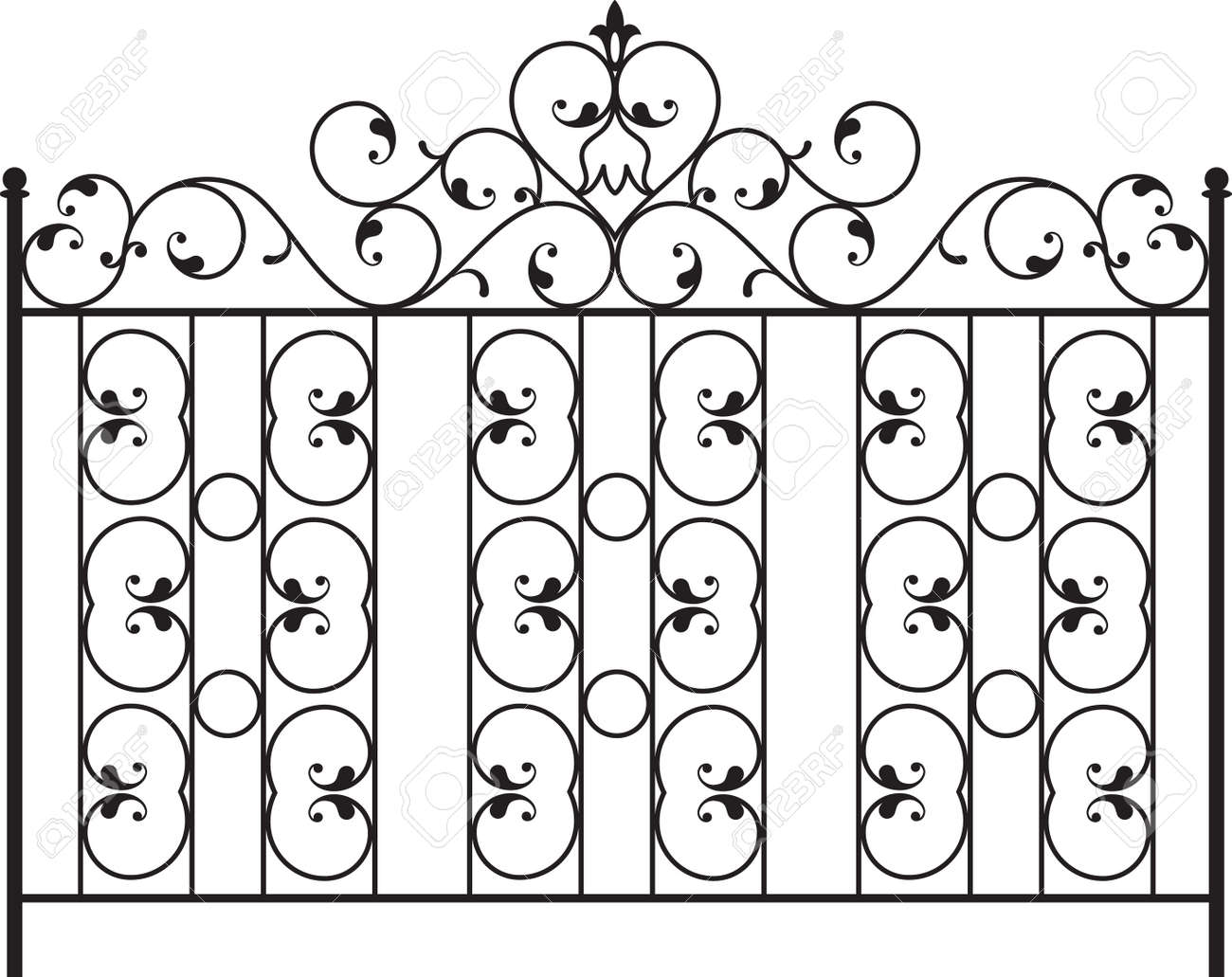 Grill design with wrought iron gate door fence window grill railing