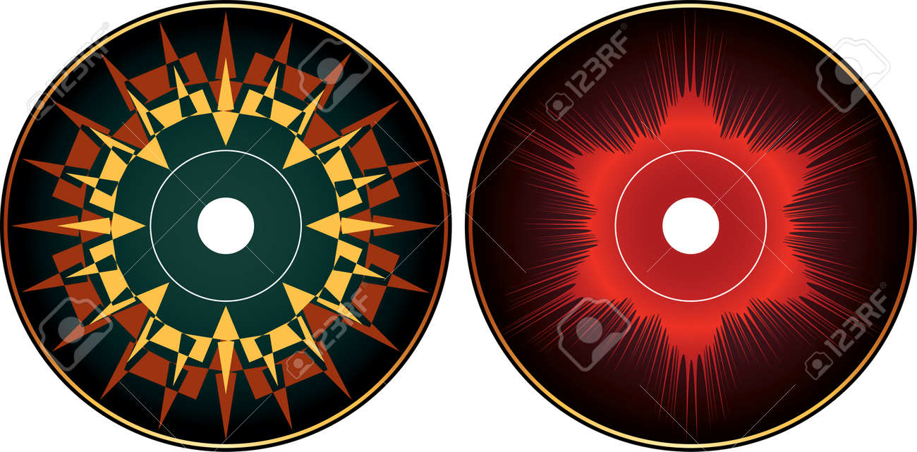 Cd Dvd Label Design Template Vector Art Royalty Free Cliparts – Dvd Label Template