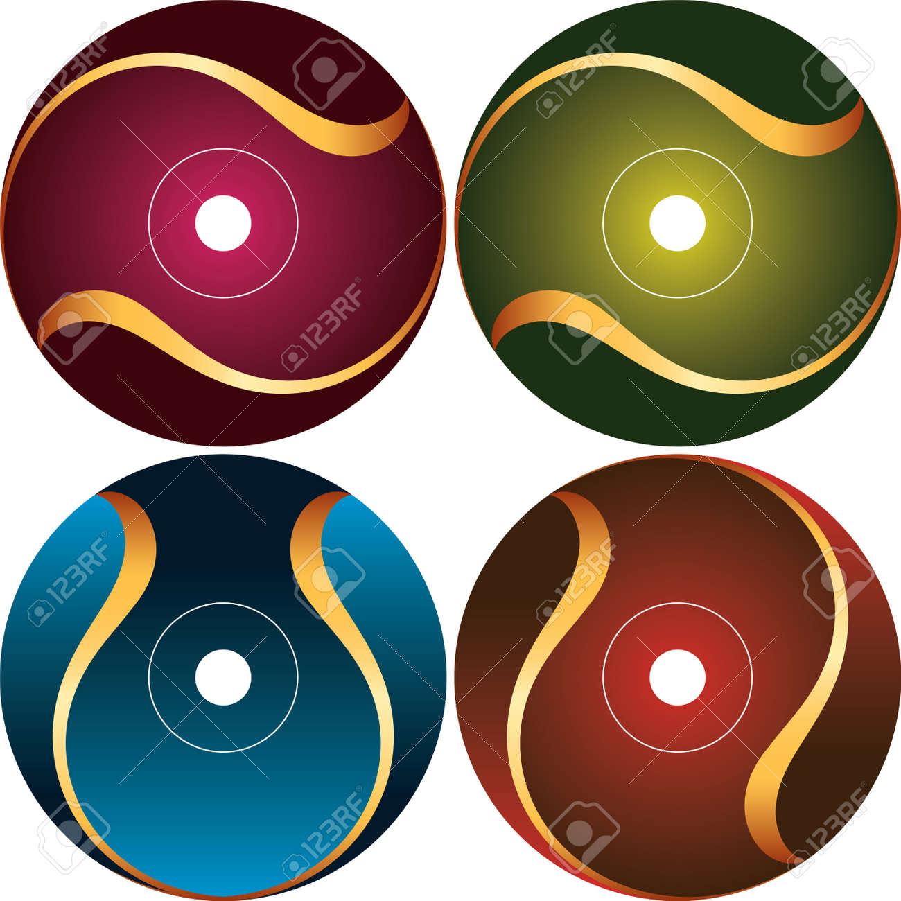 Cd - Dvd Label Design Template Vector Art Royalty Free Cliparts ...
