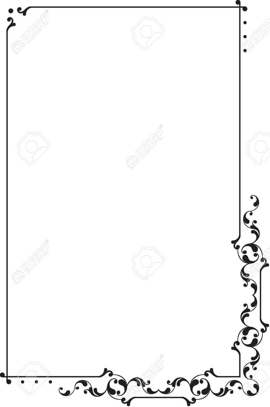 frame design vector. Delighful Design Frame Border Design Vector Art Stock  31974357 Intended