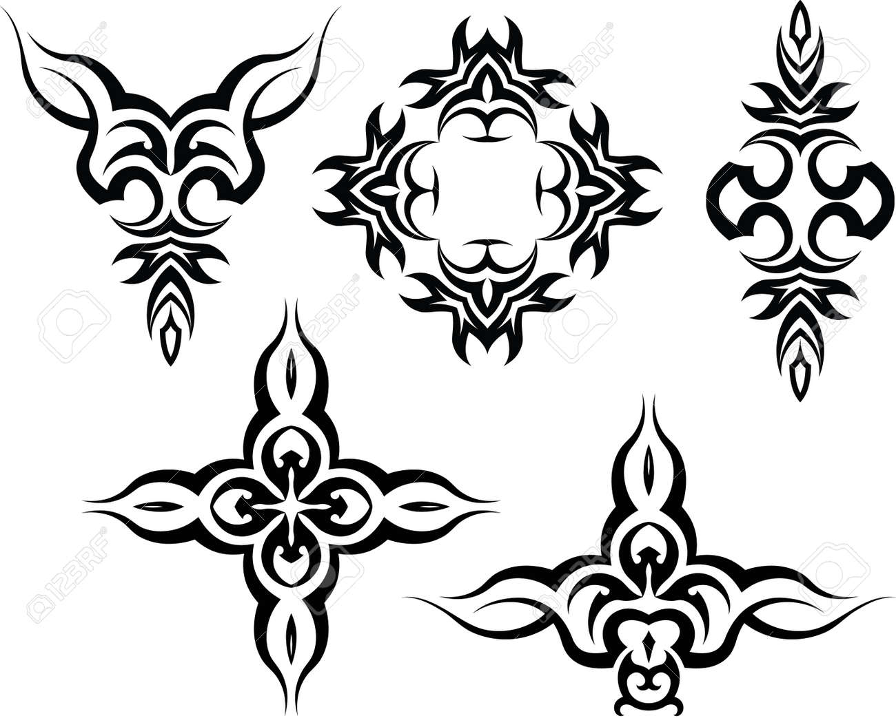 Tribal-Tattoos 31974474-Tribal-Tattoo-Design-Vector-Art-Stock-Vector