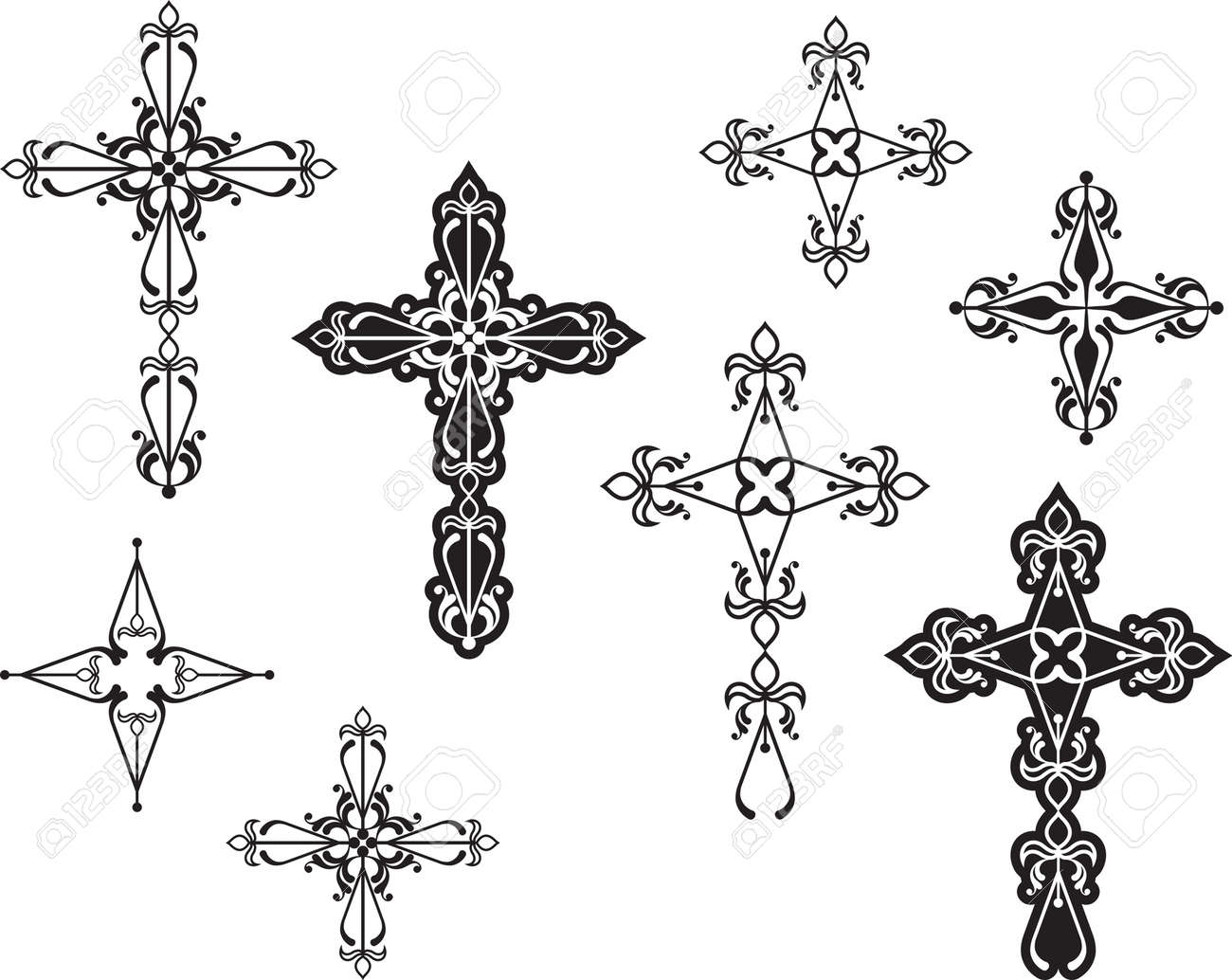 christian cross design vector art royalty free cliparts vectors rh 123rf com royalty free vector art for commercial use Vector Love