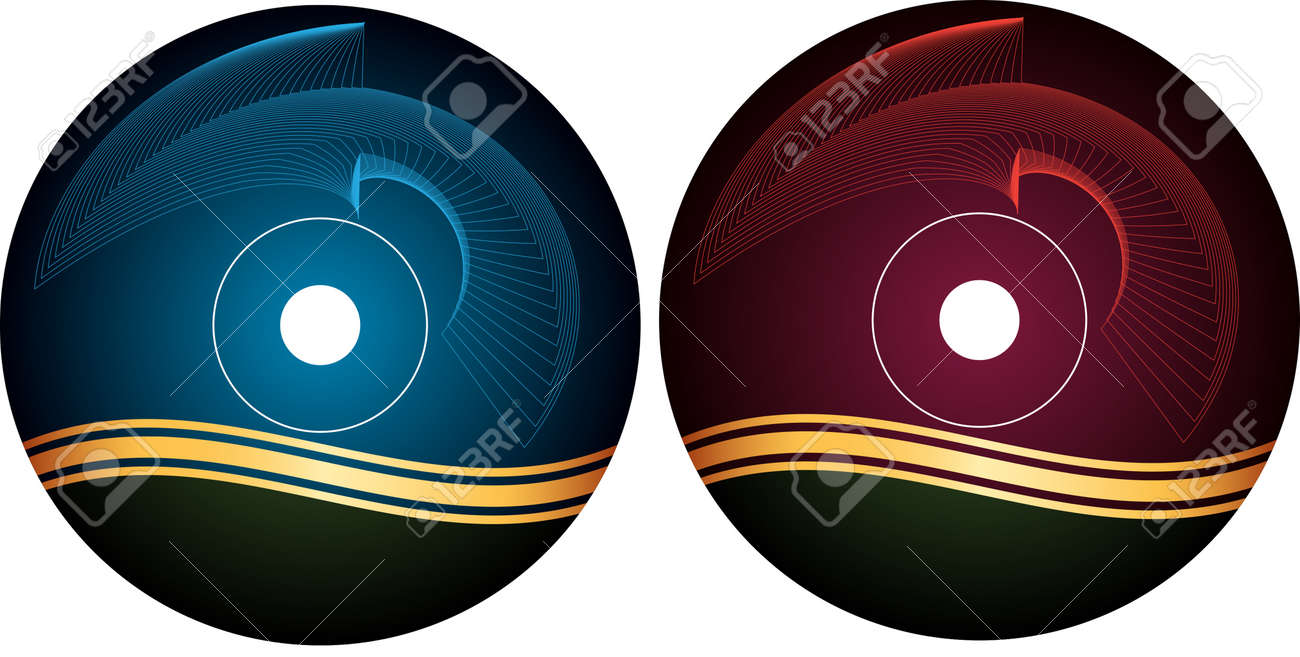 Cd Dvd Label Design Template Vector Art Royalty Free Cliparts
