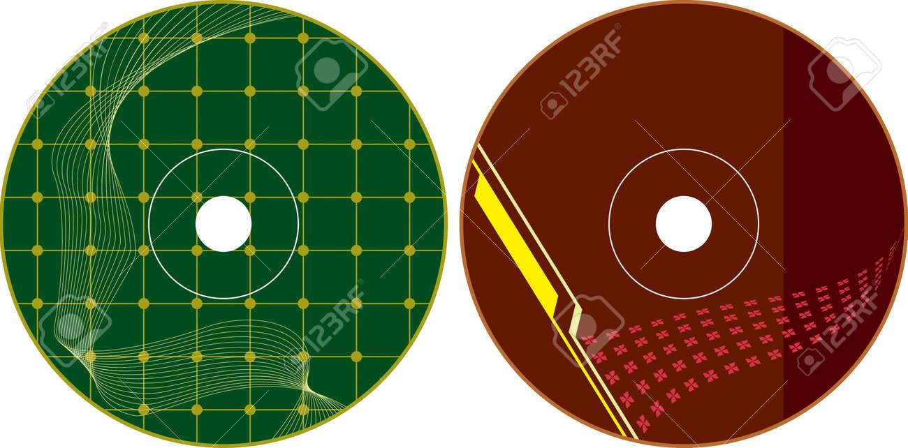 Cd - Dvd Label Diseño Plantilla Arte Vectorial Ilustraciones ...