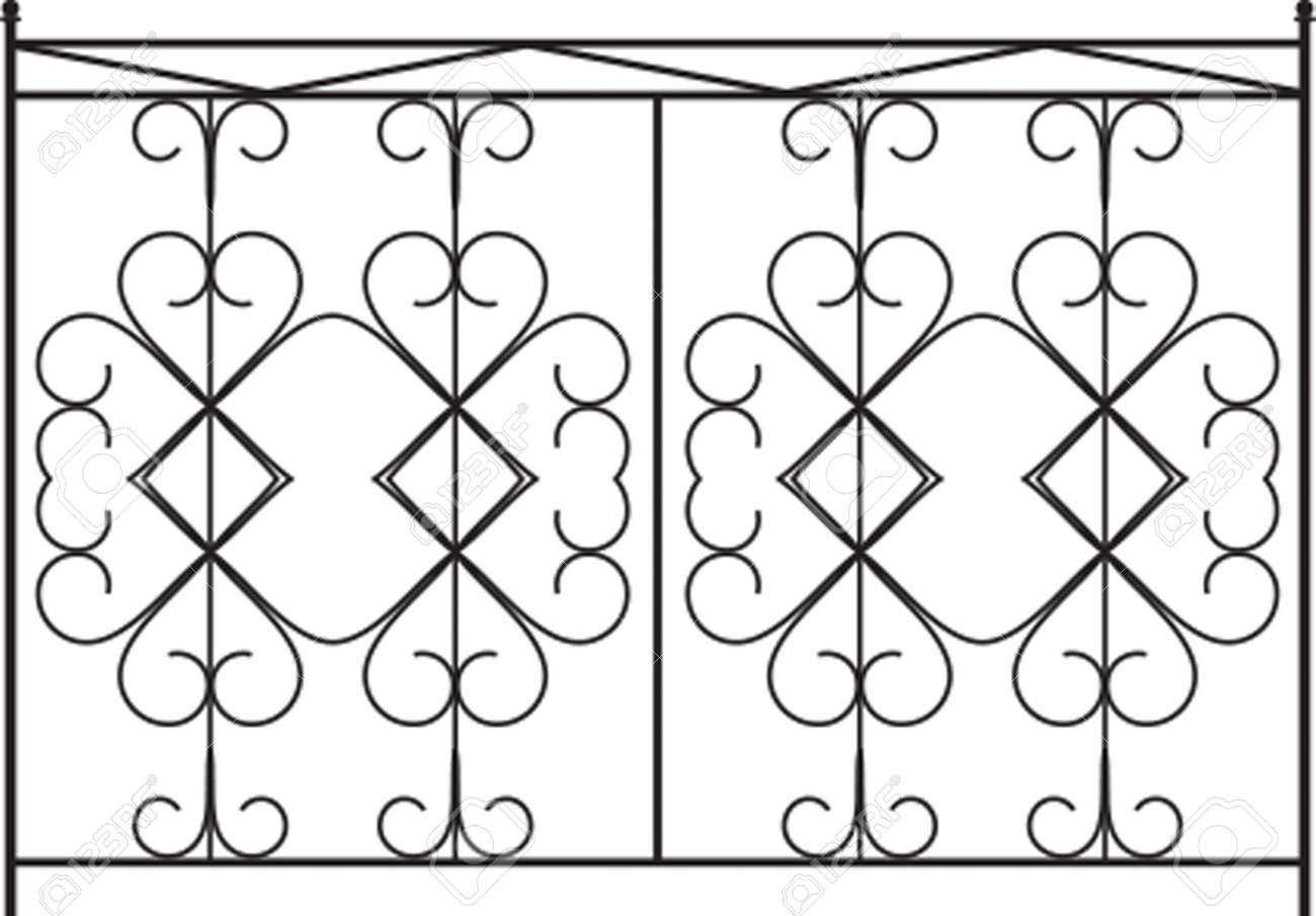 Schmiedeeisen Tor Tür Zaun Fenster Grill Geländer Design