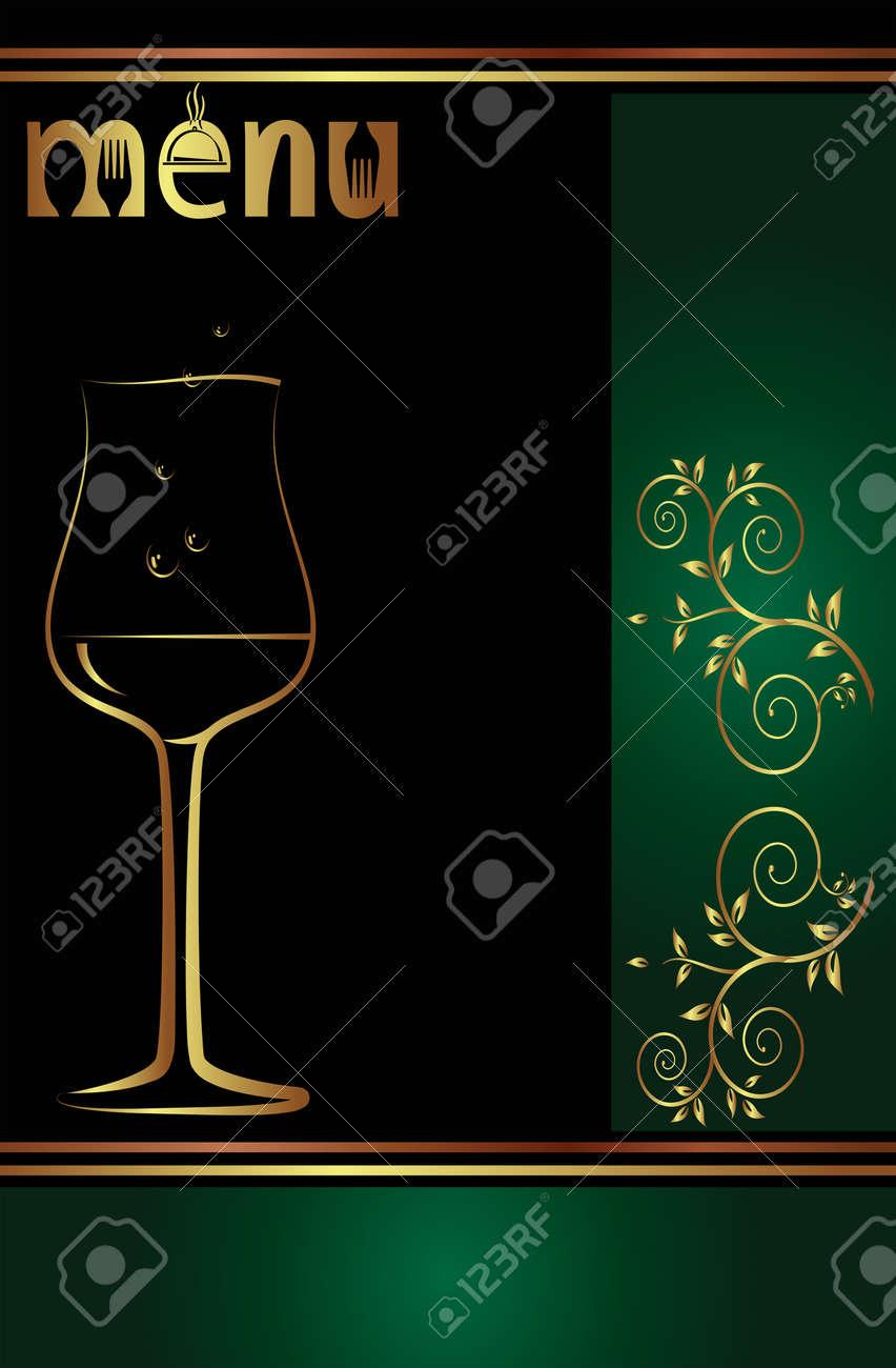 Wein-Menü-Karten-Design-Schablone Vektor Kunst Lizenzfrei Nutzbare ...