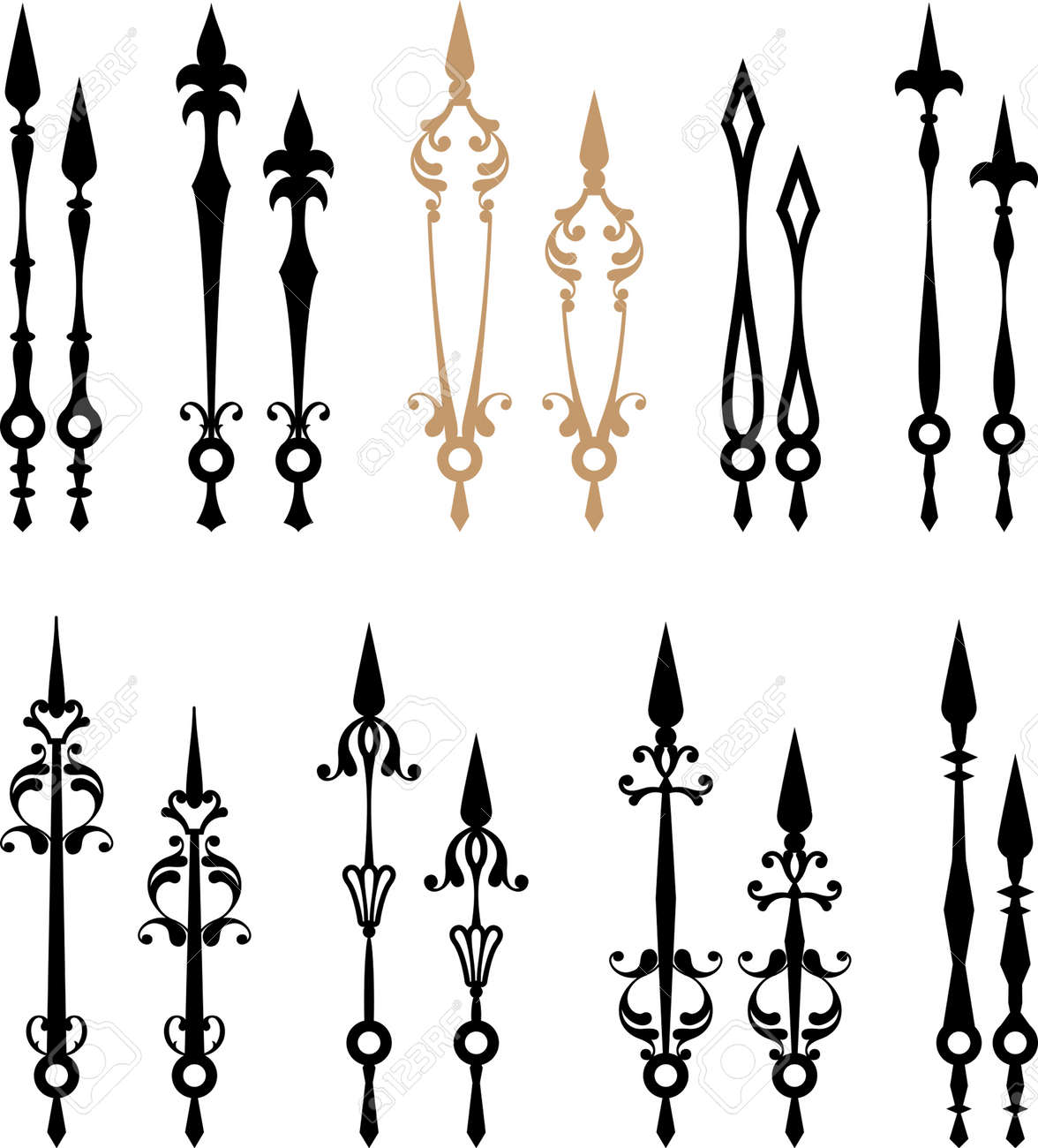 Clock Hands Arms Vector Art Stock Photo, Picture And Royalty Free ...