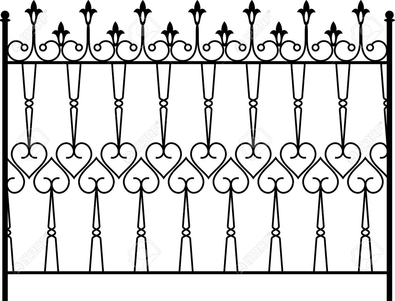 Wrought Iron Gate Door Fence Window Grill Railing Design Royalty Free Cliparts Vectors And Stock Illustration Image 46277267