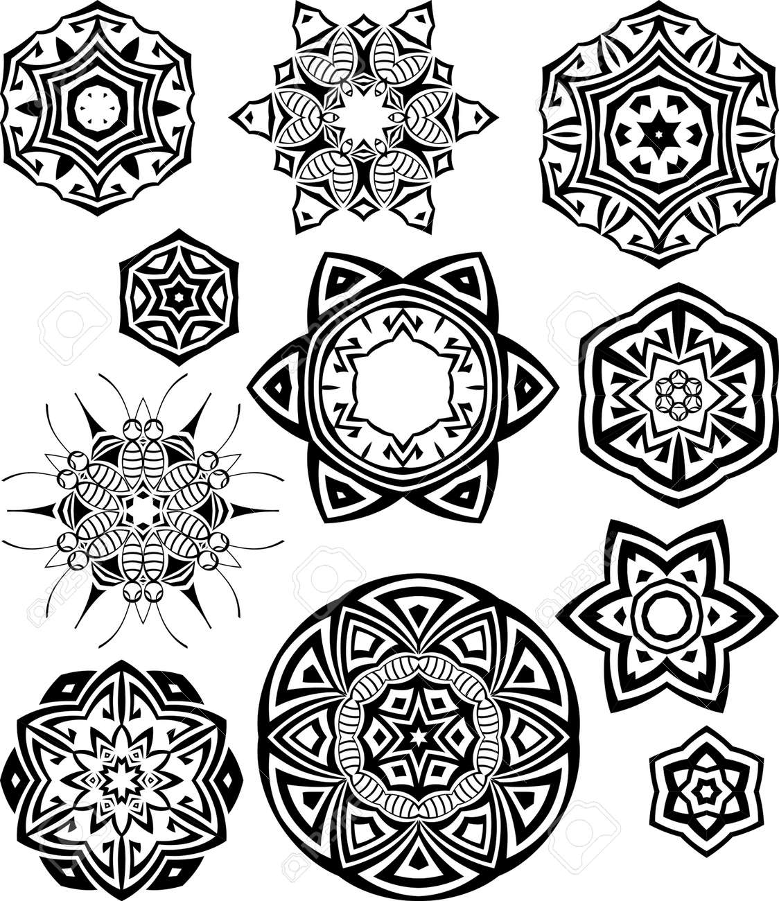 tribal tattoo circular vector art royalty free cliparts vectors rh 123rf com Celtic Tribal Tattoos for Women Tribal Ring Tattoos