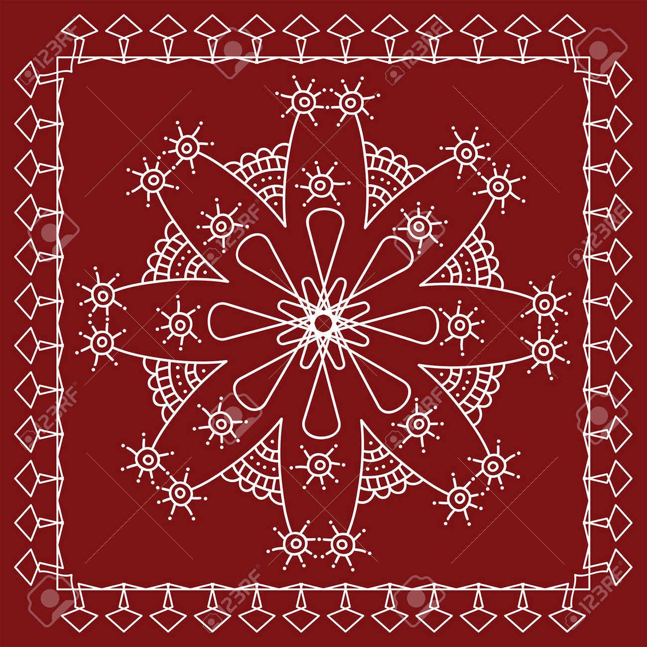 Folk, Tribal Design, Motif, Wall Painting Vector Art Stock Vector   46771339