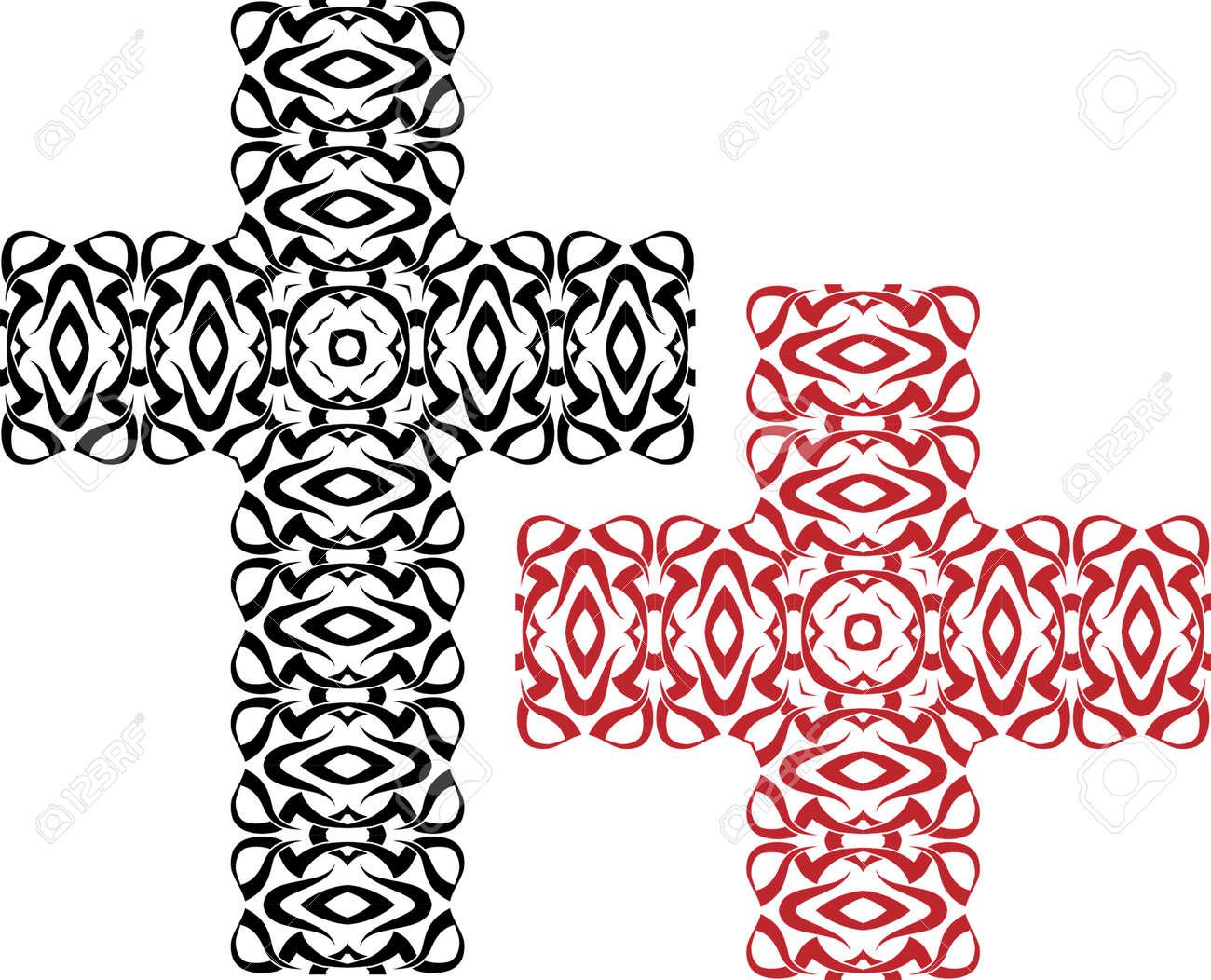 Christian Cross Design Vector Art Royalty Free Cliparts, Vectors ...