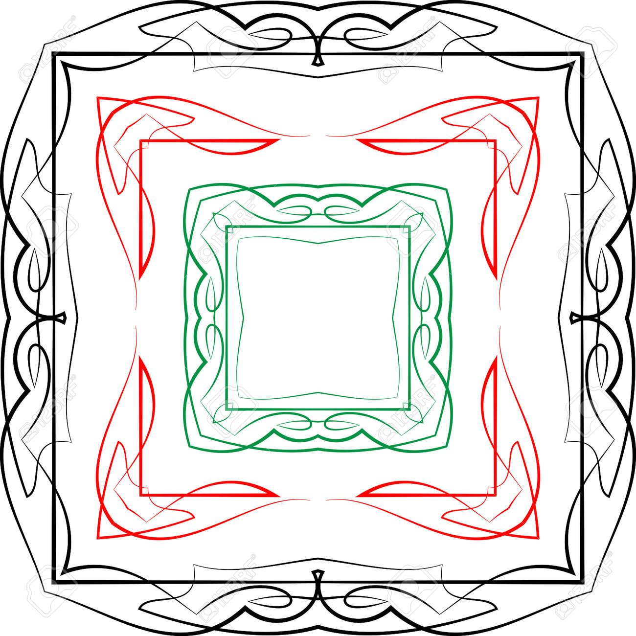 Pinstripe Gráficos Corner, Frontera: Vinilo Listo Vector Art ...