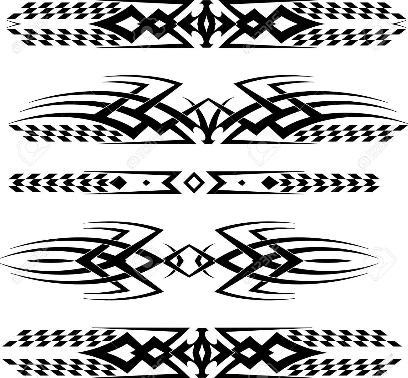 Car sticker design vector free - Tribal Car Decal Vinyl Ready Vector Illustration Stock Vector 55710689