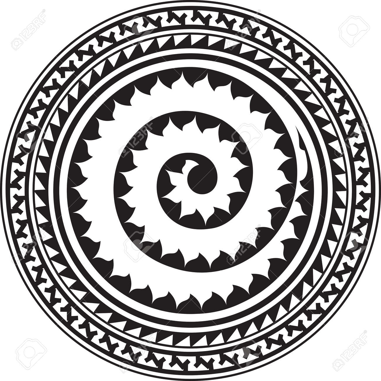tribal tattoo circular vector art royalty free cliparts vectors rh 123rf com Celtic Tribal Tattoos for Women circular tribal tattoo designs