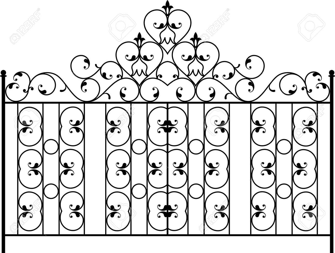 Fer Forgé Porte Porte Clôture Fenêtre Grill Garde Corps De Conception