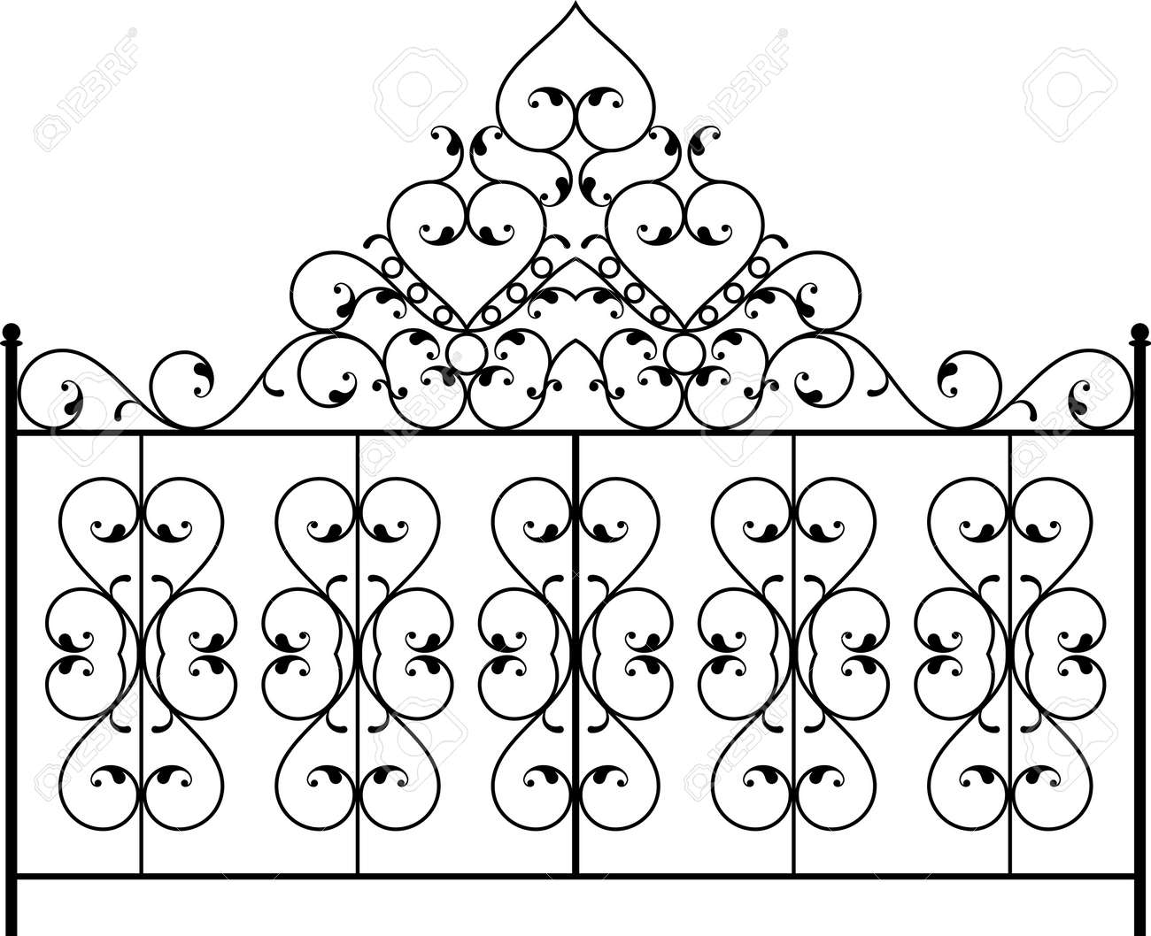 Schmiedeeisernes Tor, Tür, Zaun, Fenster, Grill, Geländer Entwurf ...