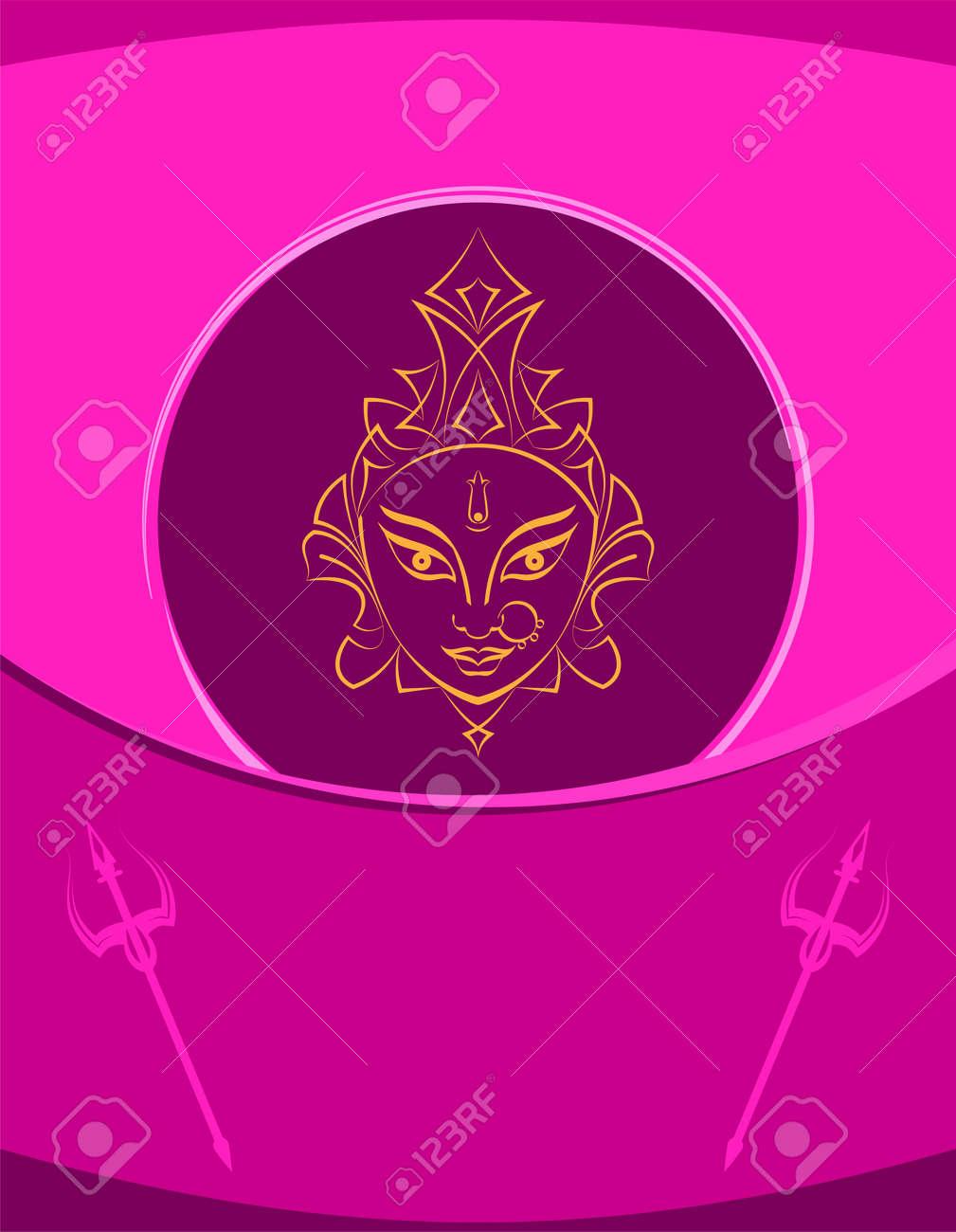 Durga Goddess Of Power, Divine Mother Of The Universe Design