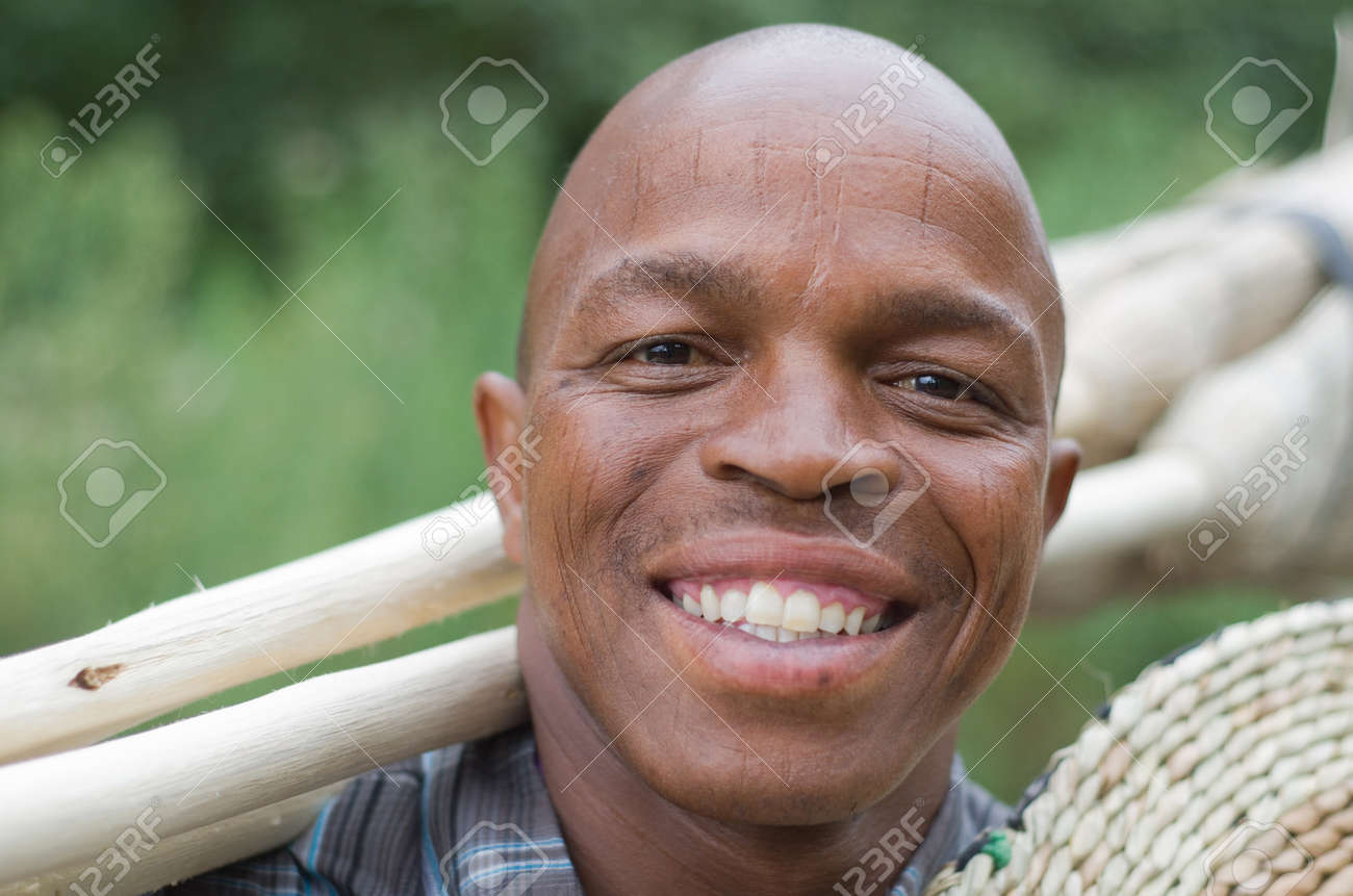 portrait of a smiling black South African Stock Photo - 17536858