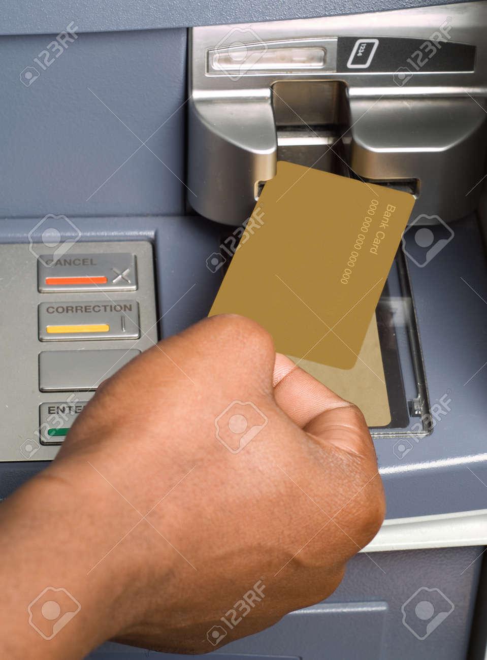 Carte Bancaire Afrique Du Sud.Dessin Argent Americain En Afrique Du Sud Ou L Afrique De Tresorerie Avec La Carte De Guichet Automatique Bancaire Au Guichet Automatique