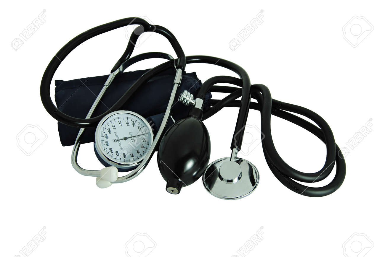 Stethoscope to measure blood pressure and listen to heartbeats - medicine - 165703115