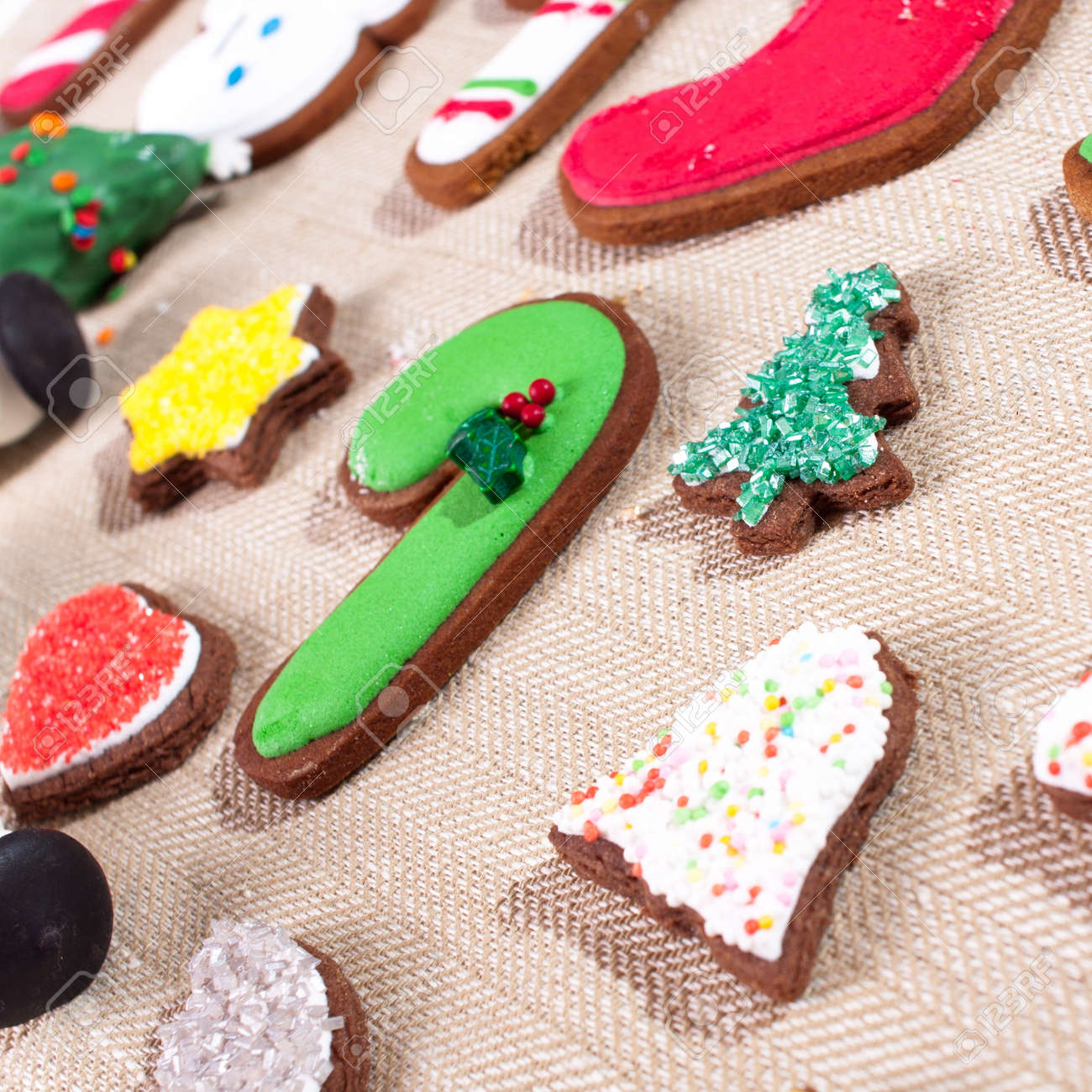 Christmas Cookies For Kids And Decoration Stock Photo, Picture And ...