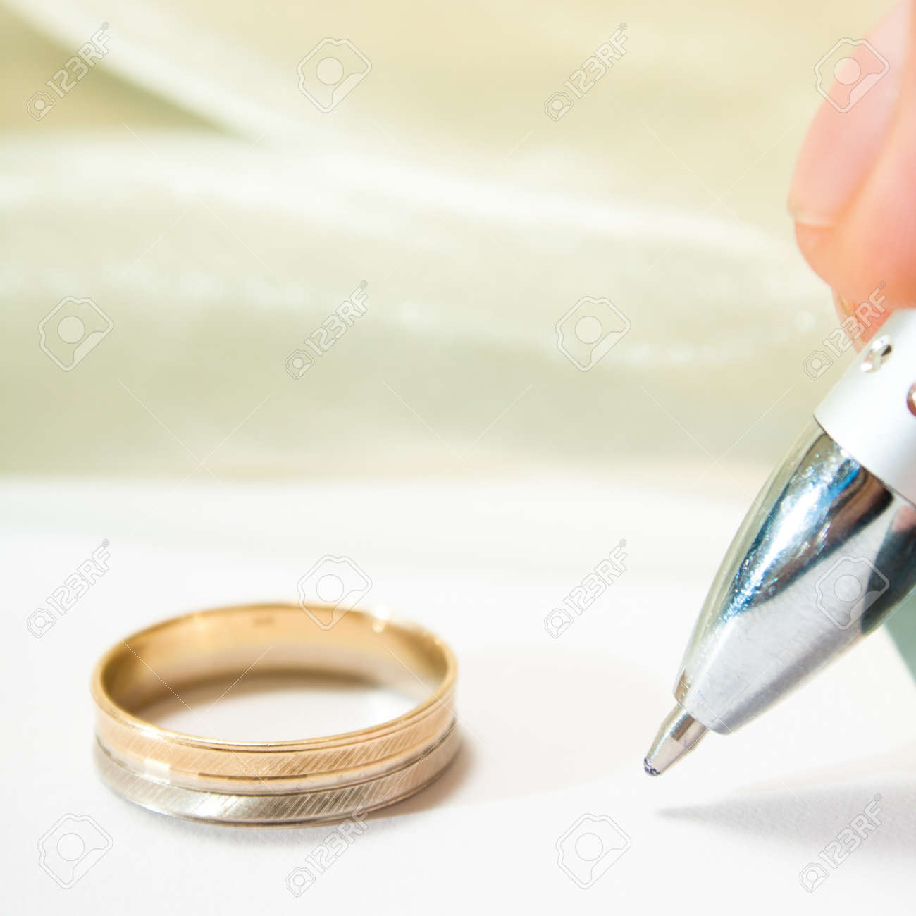 love letter or wedding promises stock photo 17158375