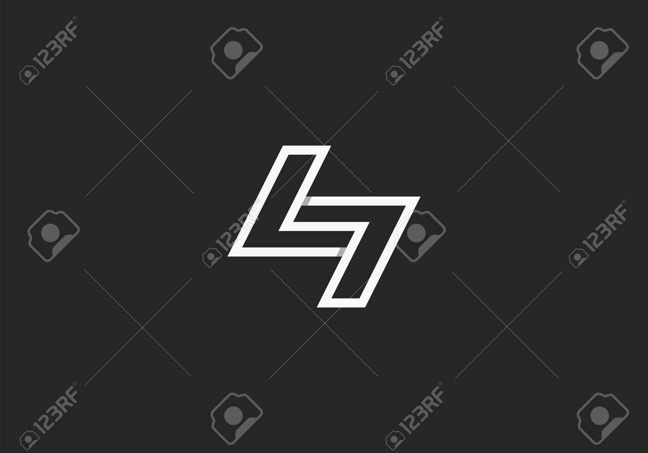 Initial Letter N Modern Line Logo, Initial Letter Logo For Company Name, Alphabet Logo Template Ready For Use, Modern Initial Logo - 169017227
