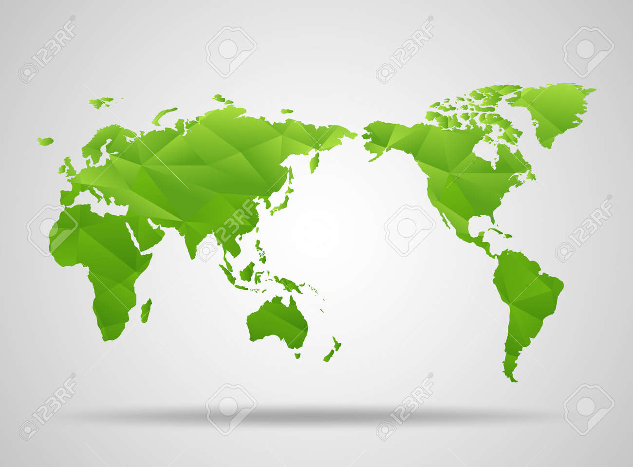 World map low poly design green origami planet vector foto de archivo world map low poly design green origami planet vector illustration gumiabroncs Image collections