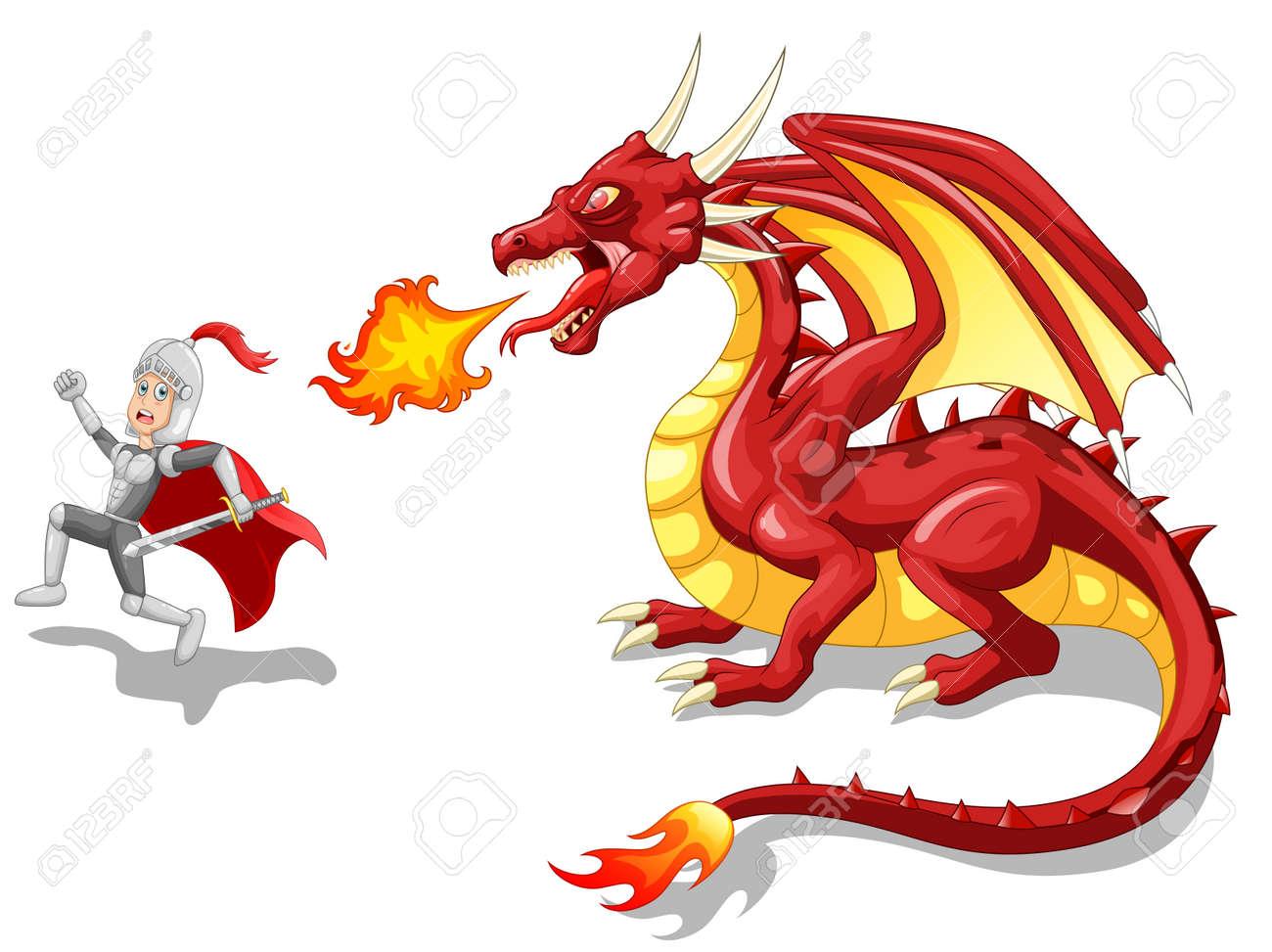 漫画激しい竜騎士ベクトル図のイラスト素材ベクタ Image 75100256