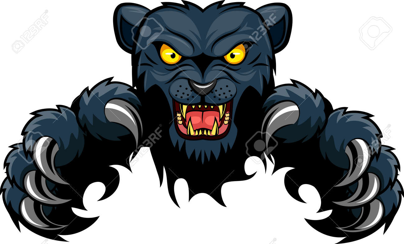 panther ripping through background vector illustration royalty free rh 123rf com Black Panther Animal Prphs Panthers