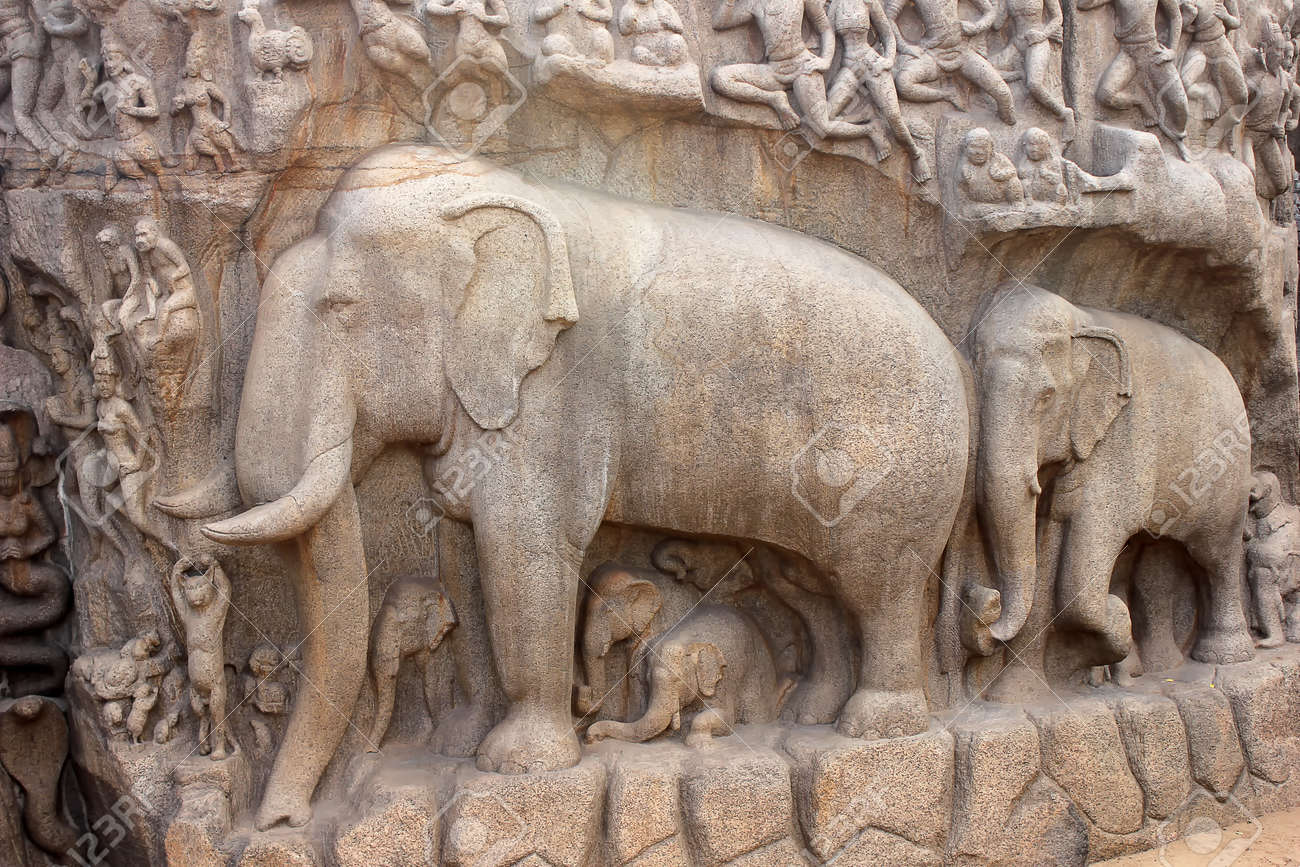 One of the ancient architectural wonders of the Pallava kings