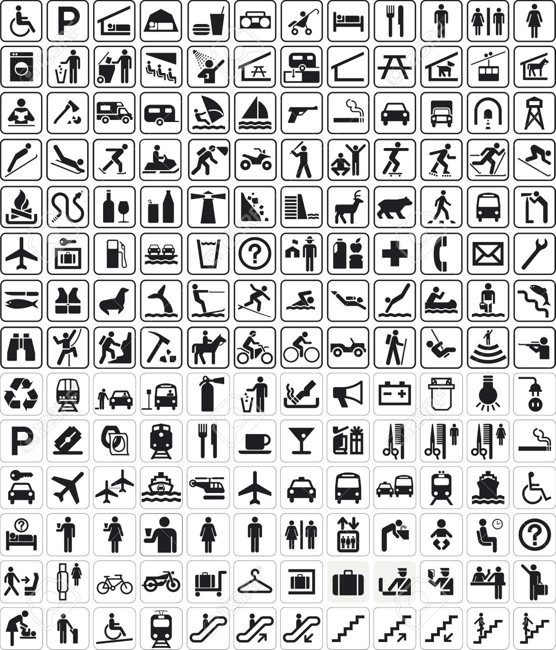 Multiple signals and symbols for different use royalty free multiple signals and symbols for different use stock vector 14523575 buycottarizona
